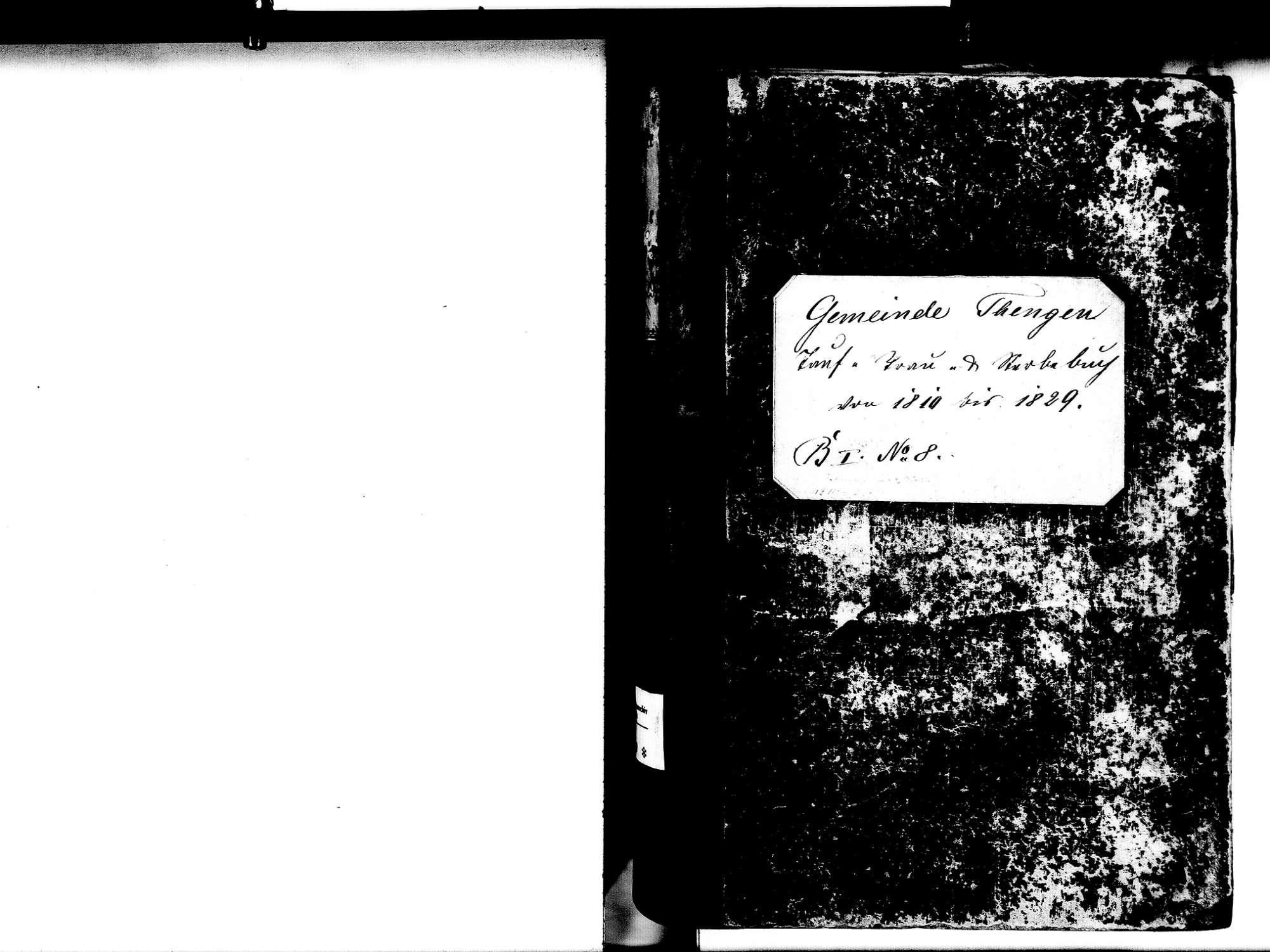 Tengen KN; Katholische Gemeinde: Standesbuch 1810-1829, Bild 2