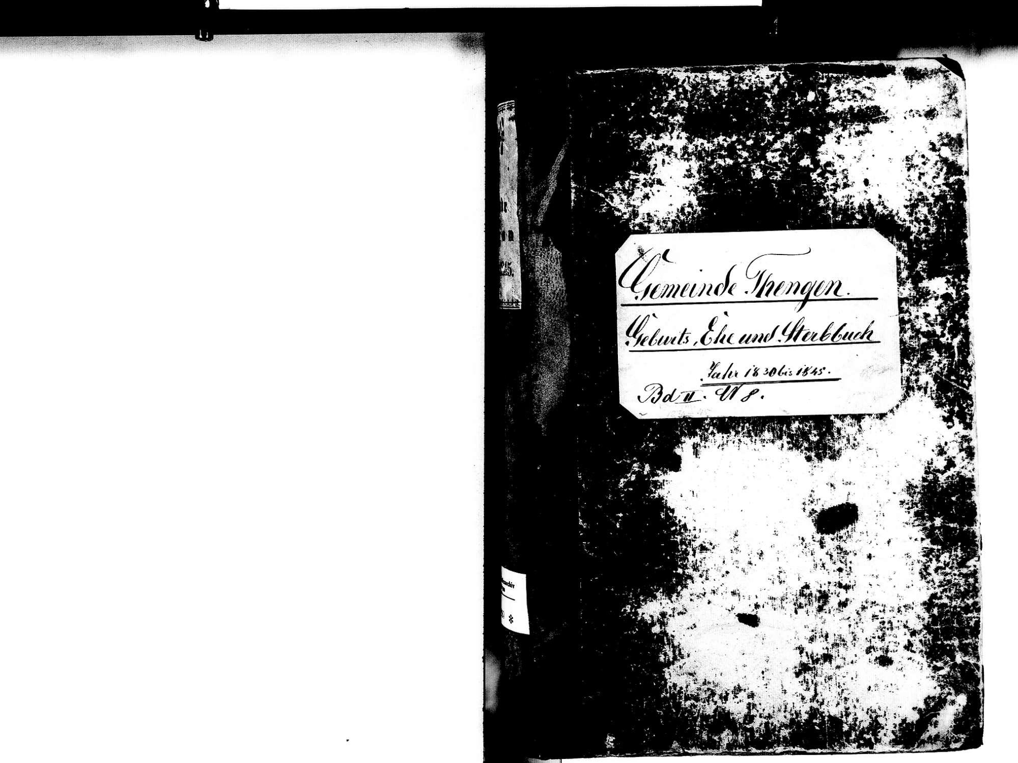 Tengen KN; Katholische Gemeinde: Standesbuch 1830-1845, Bild 2