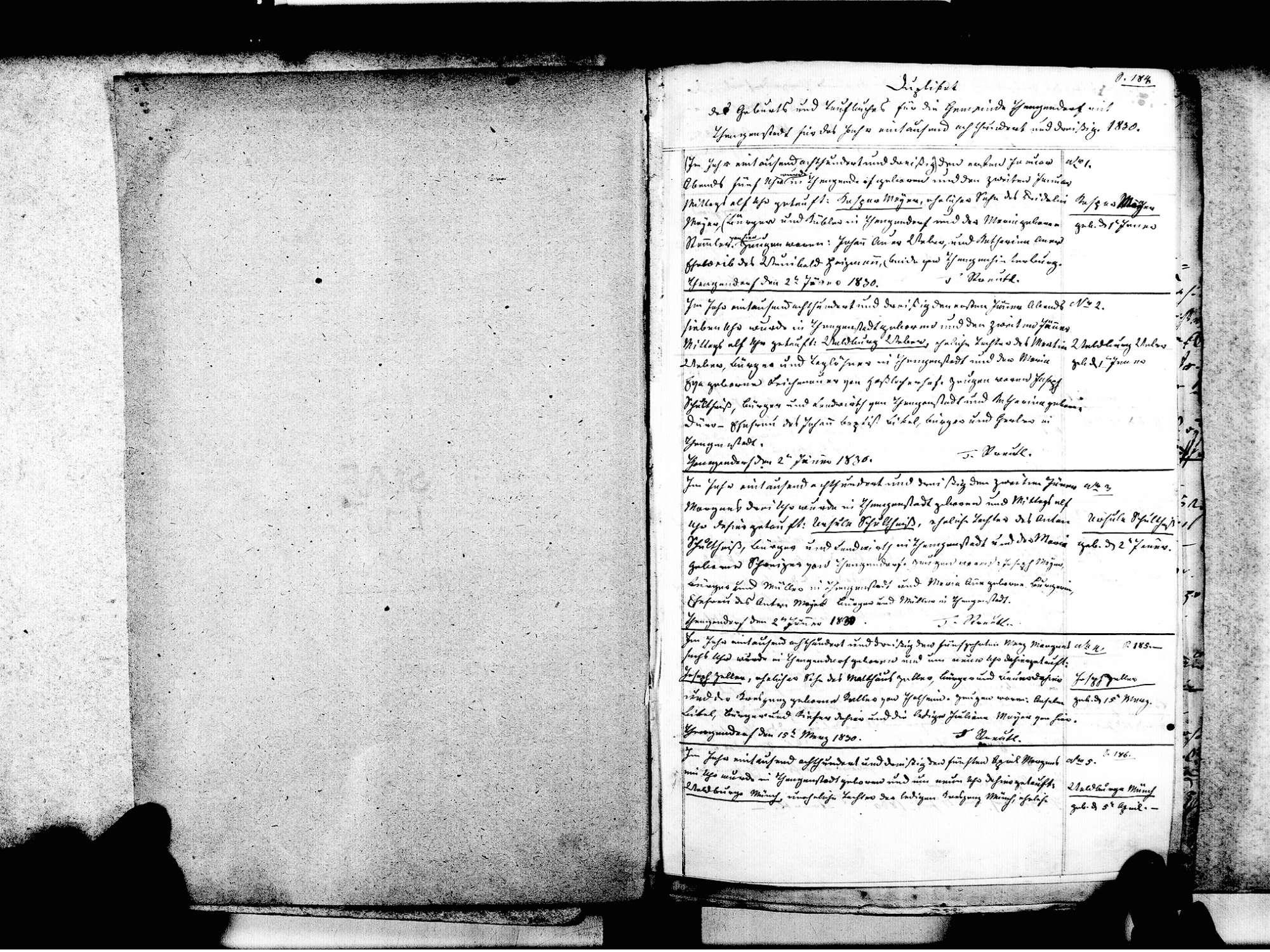 Tengen KN; Katholische Gemeinde: Standesbuch 1830-1845, Bild 3