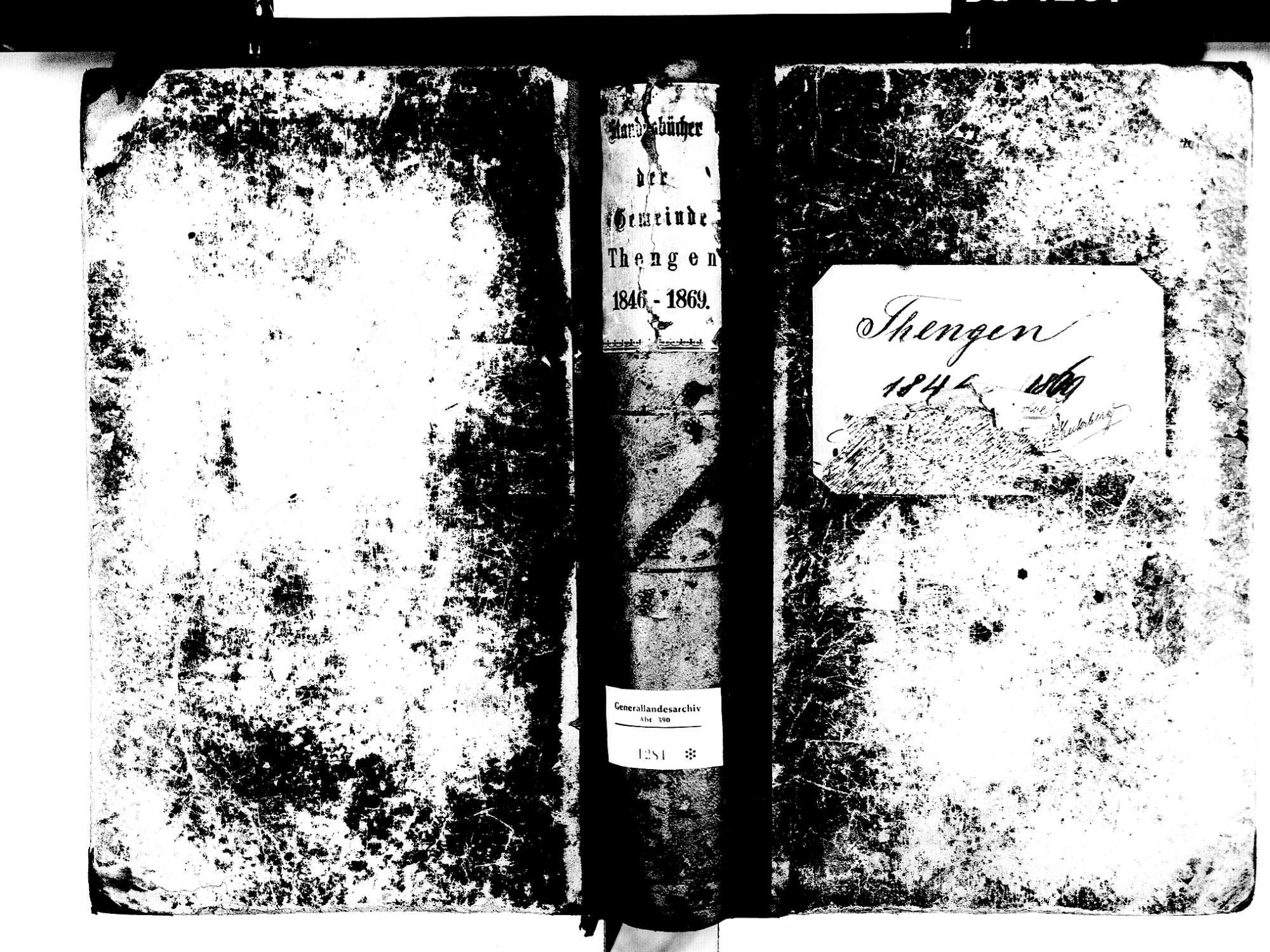 Tengen KN; Katholische Gemeinde: Standesbuch 1846-1869, Bild 1