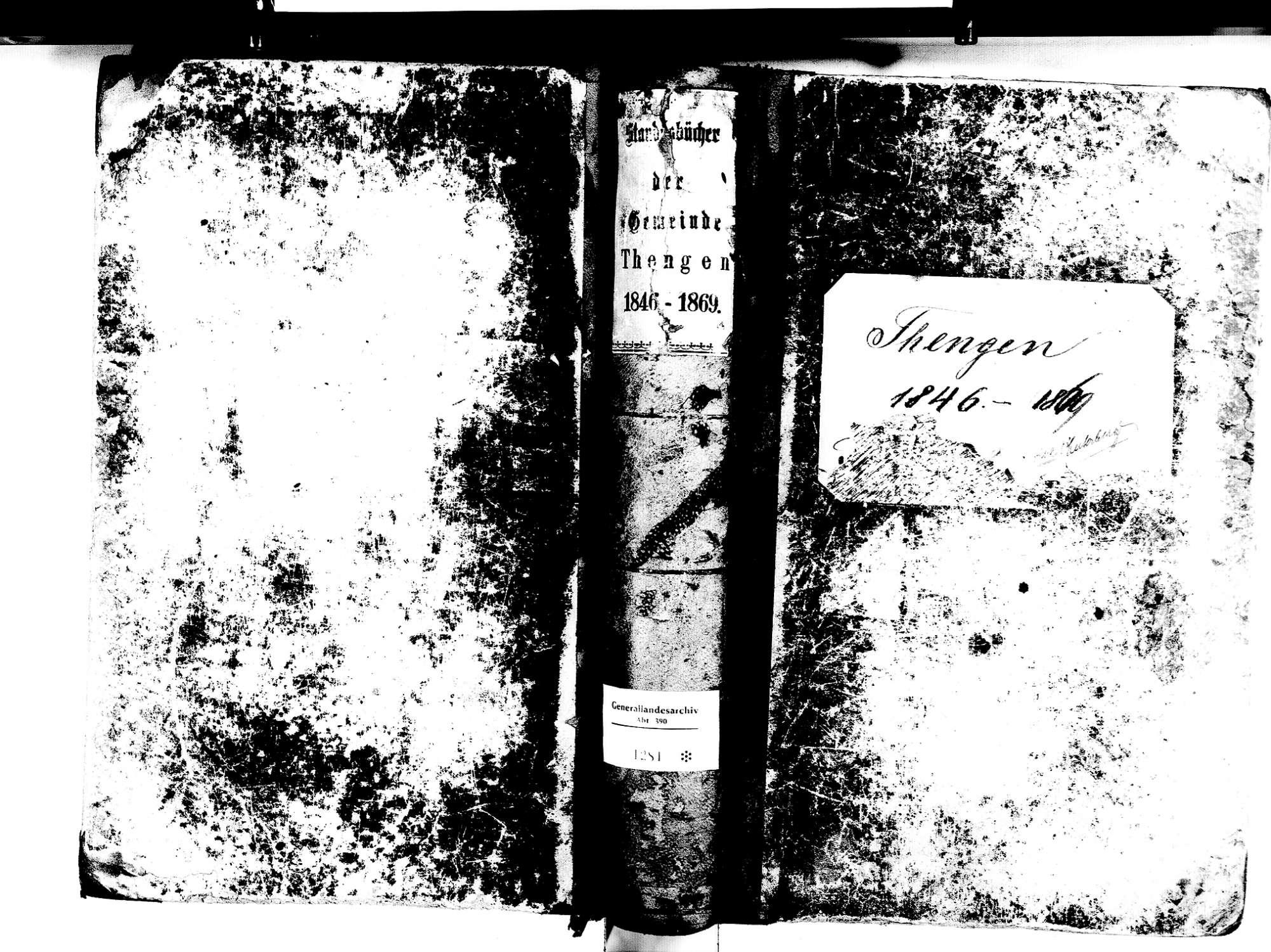 Tengen KN; Katholische Gemeinde: Standesbuch 1846-1869, Bild 2