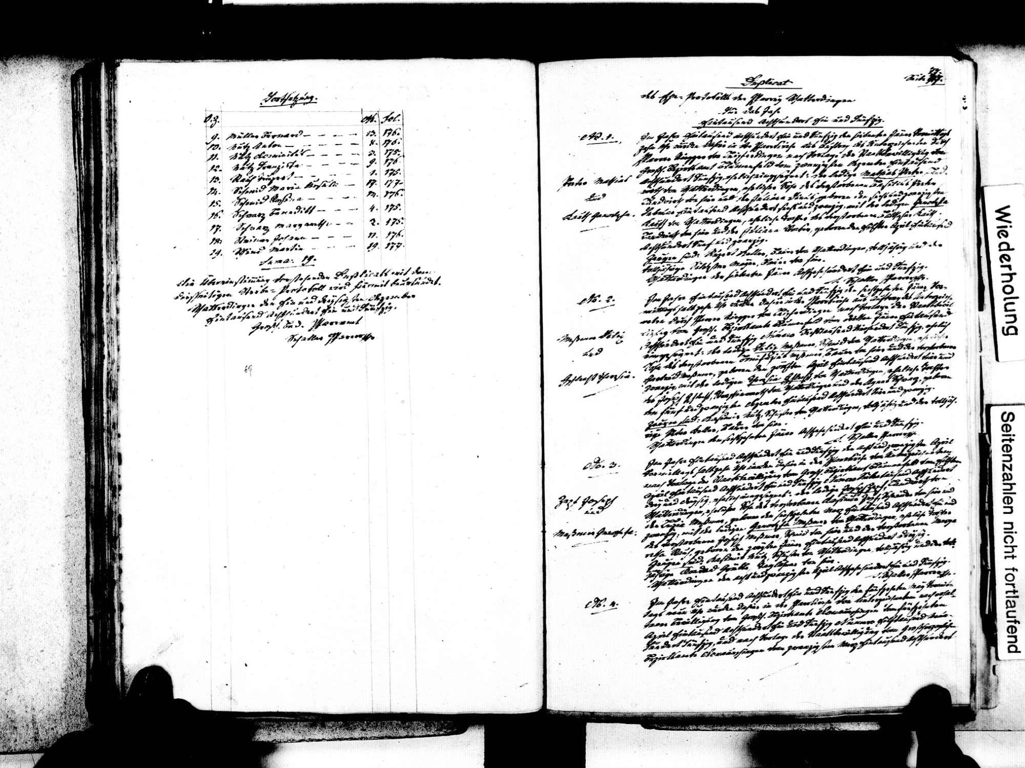 Watterdingen, Tengen KN; Katholische Gemeinde: Standesbuch 1840-1869, Bild 2
