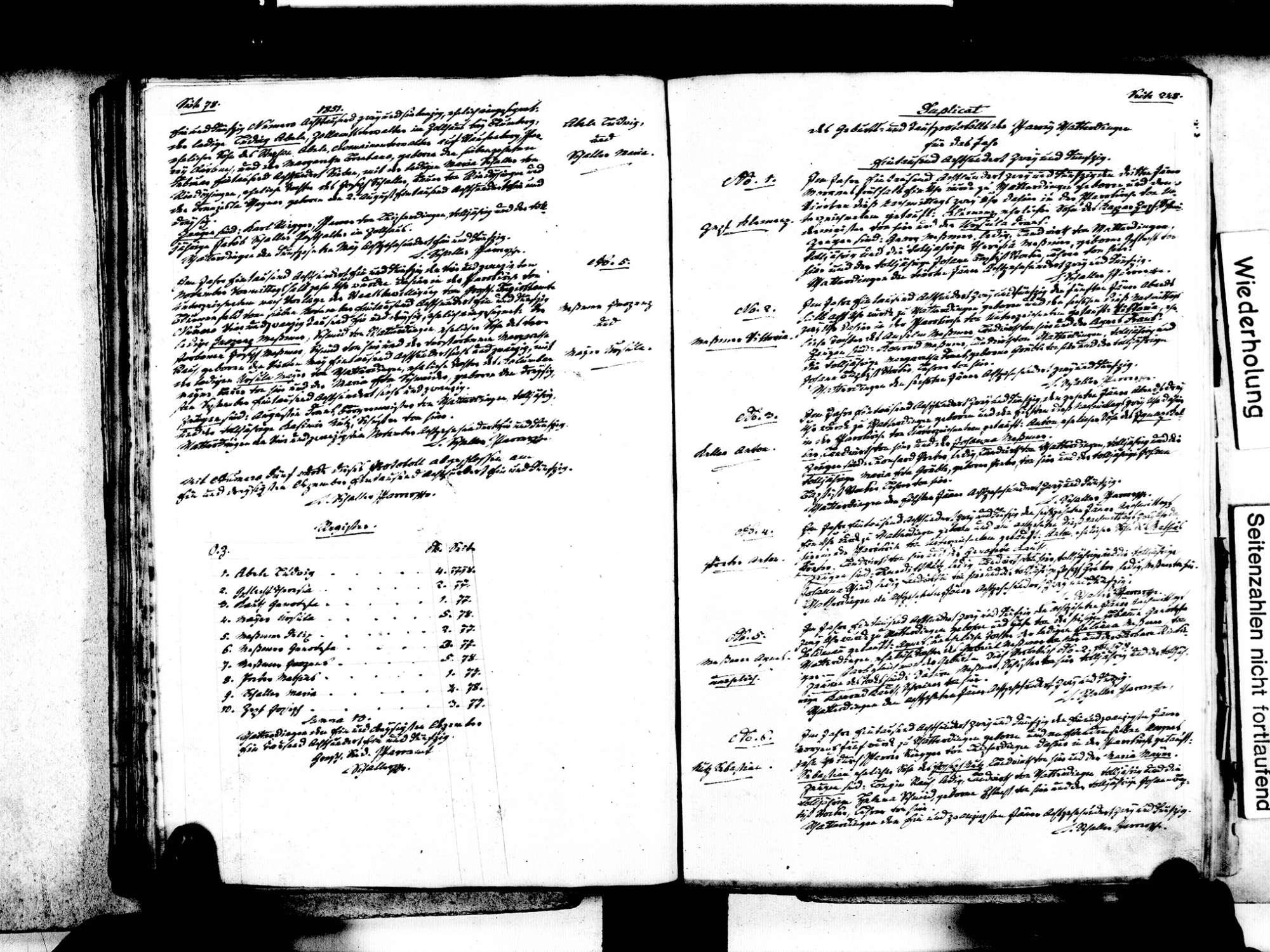 Watterdingen, Tengen KN; Katholische Gemeinde: Standesbuch 1840-1869, Bild 3