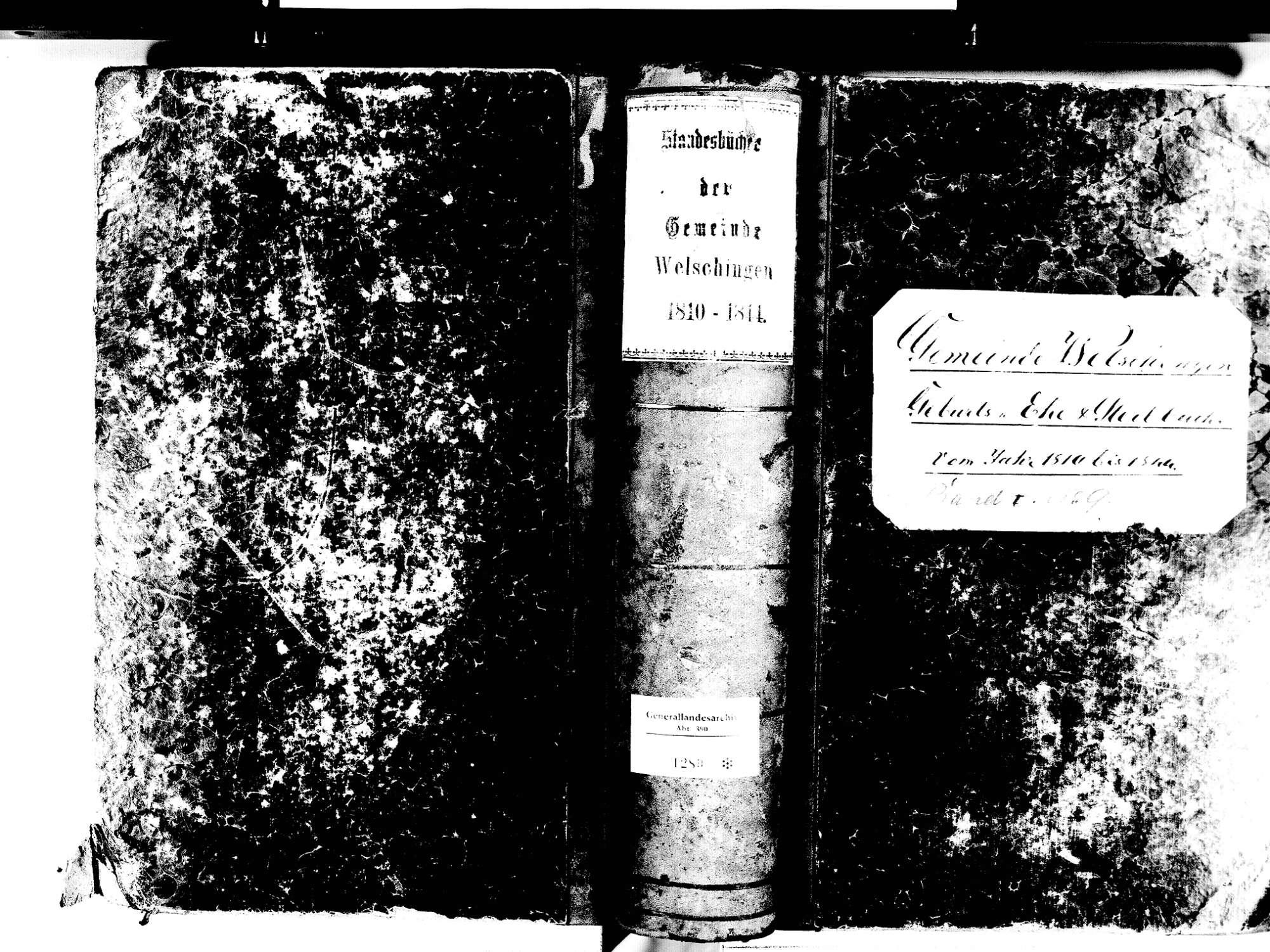 Welschingen, Engen KN; Katholische Gemeinde: Standesbuch 1810-1844, Bild 1