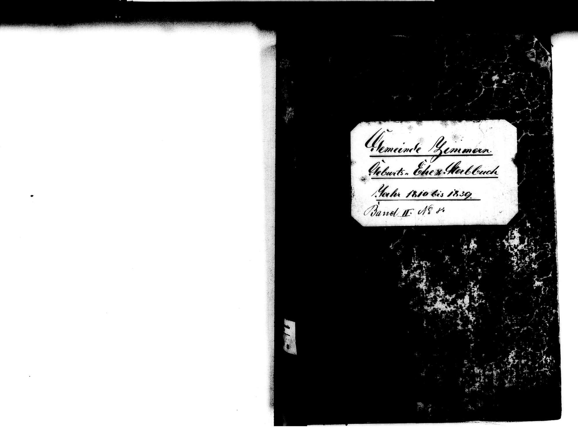 Zimmern, Immendingen TUT; Katholische Gemeinde: Standesbuch 1810-1839, Bild 2