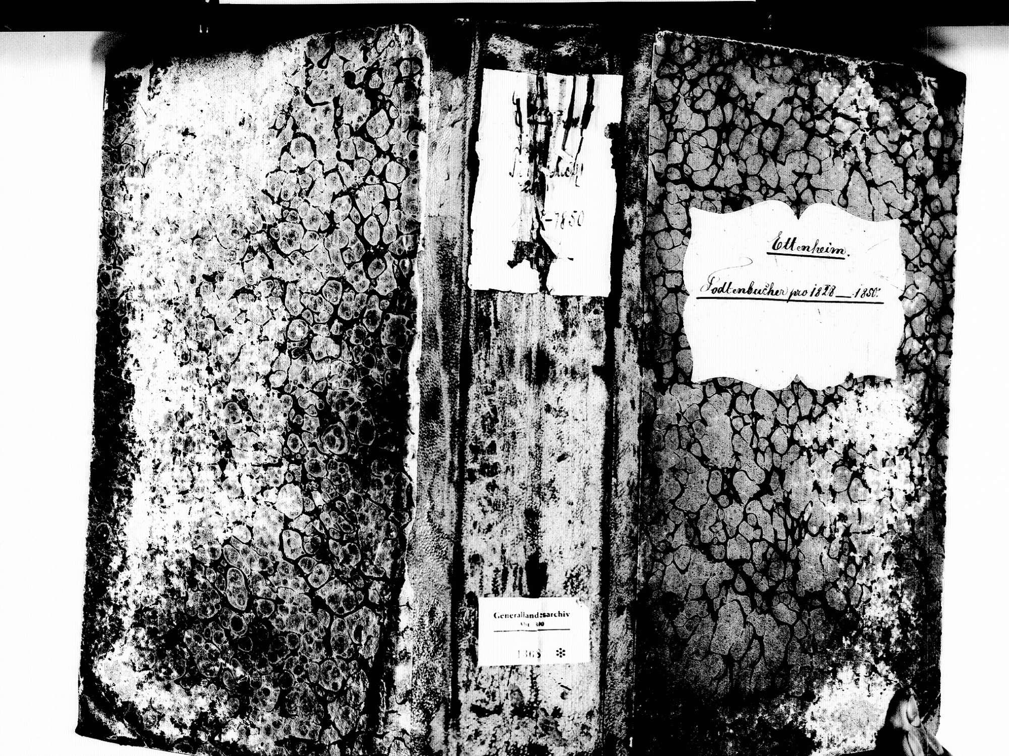 Ettenheim OG; Katholische Gemeinde: Sterbebuch 1829-1850, Bild 1