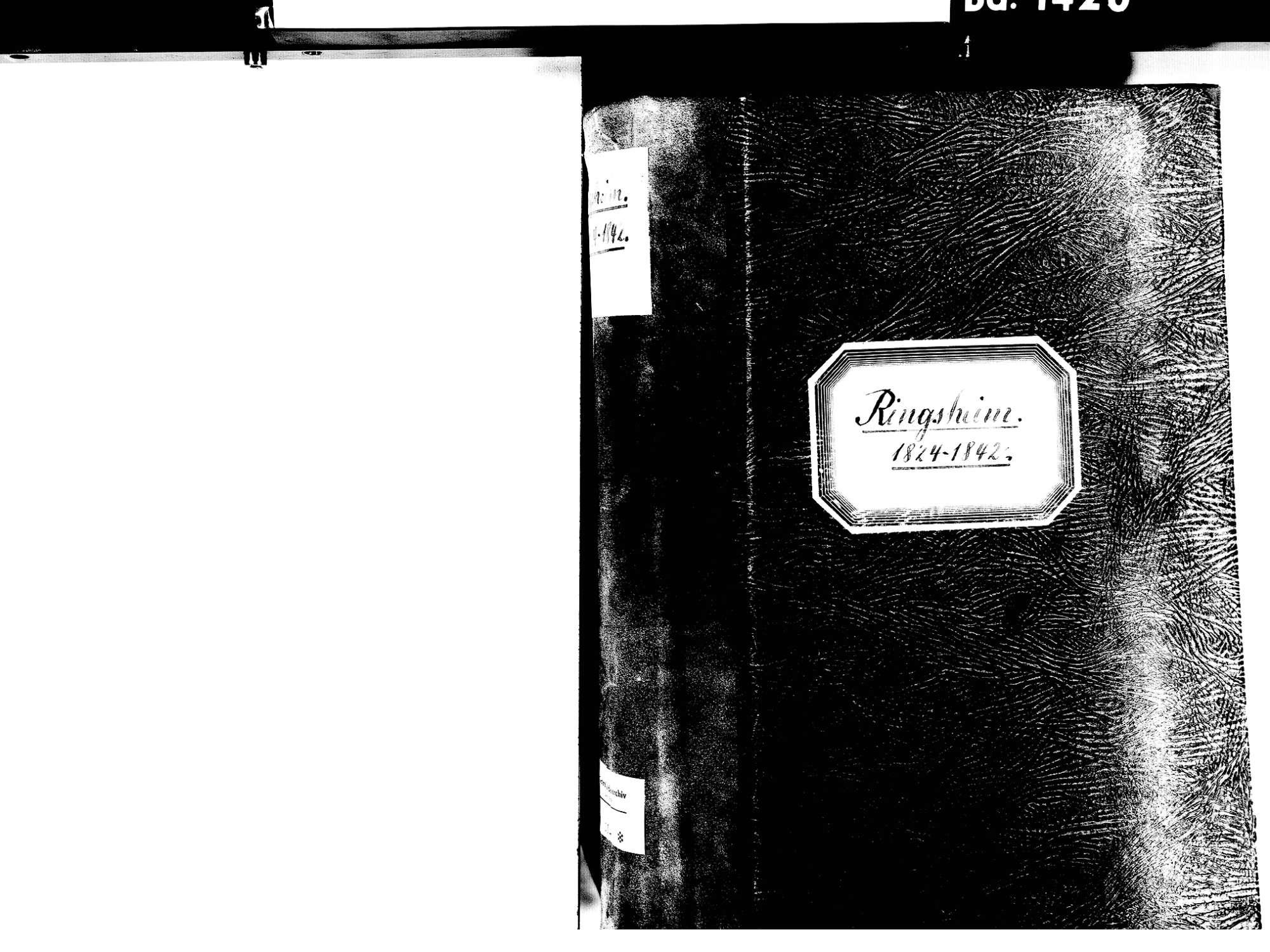 Ringsheim OG; Katholische Gemeinde: Standesbuch 1824-1842, Bild 2