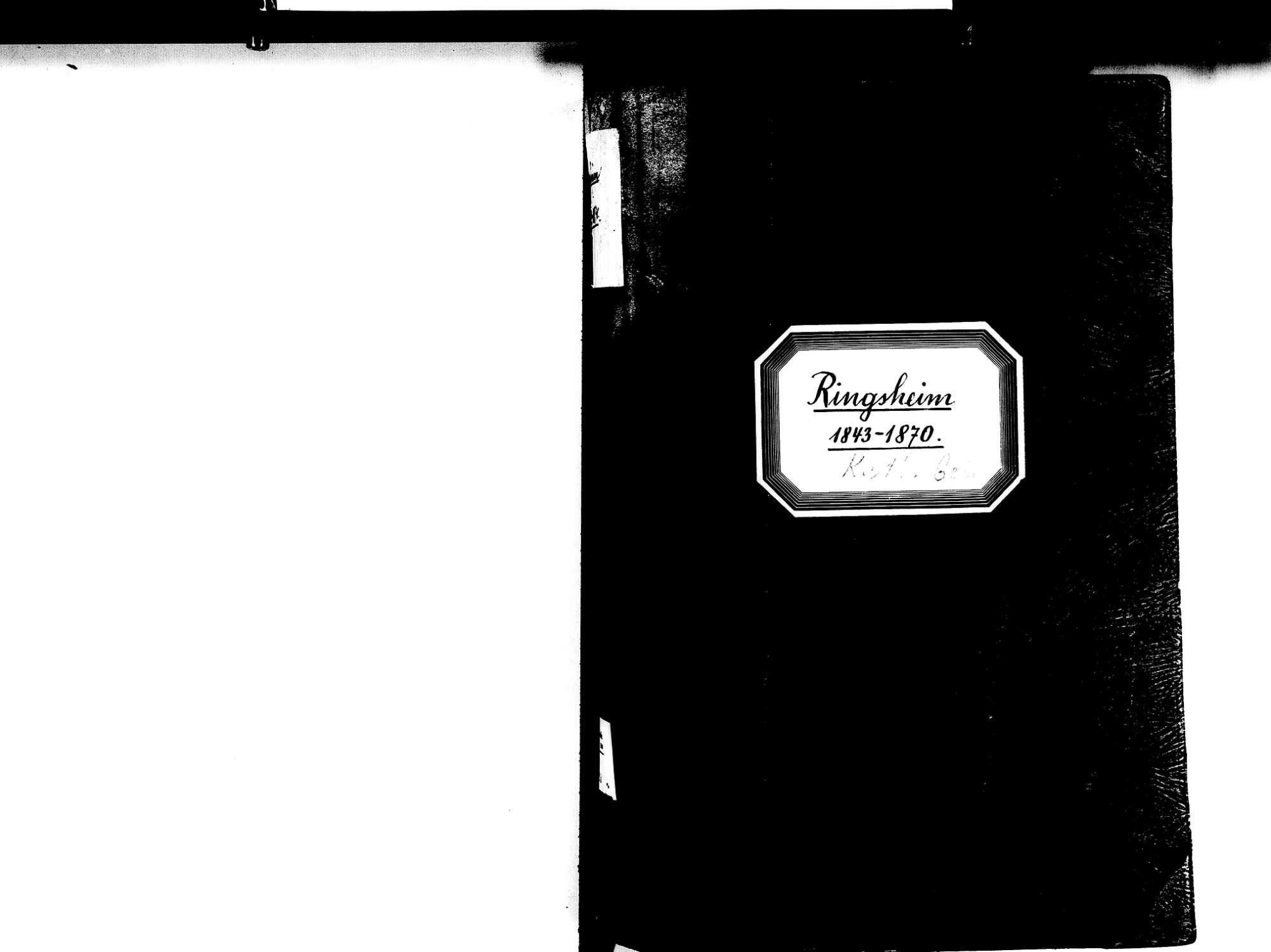 Ringsheim OG; Katholische Gemeinde: Geburtenbuch 1843-1870, Bild 2