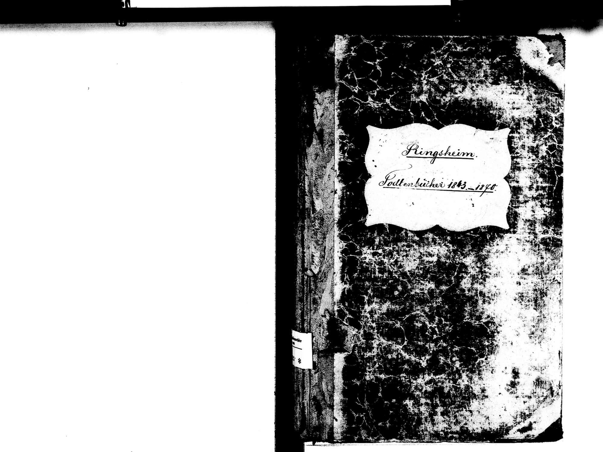 Ringsheim OG; Katholische Gemeinde: Sterbebuch 1843-1870, Bild 2