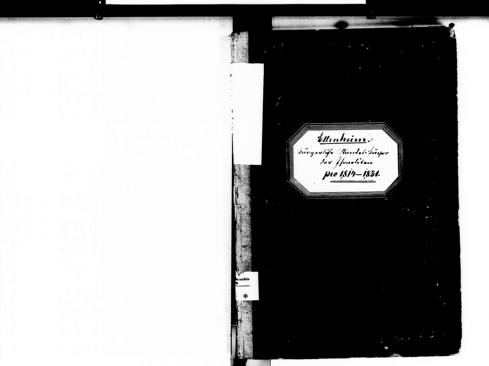 Ettenheim OG; Israelitische Gemeinde: Standesbuch 1814-1831, Bild 2