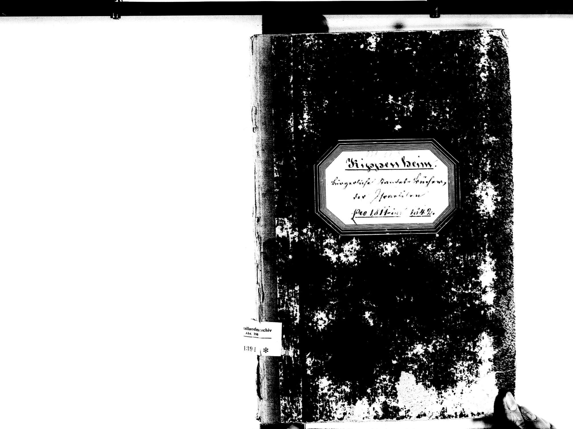 Kippenheim OG; Israelitische Gemeinde: Standesbuch 1811-1842, Bild 1