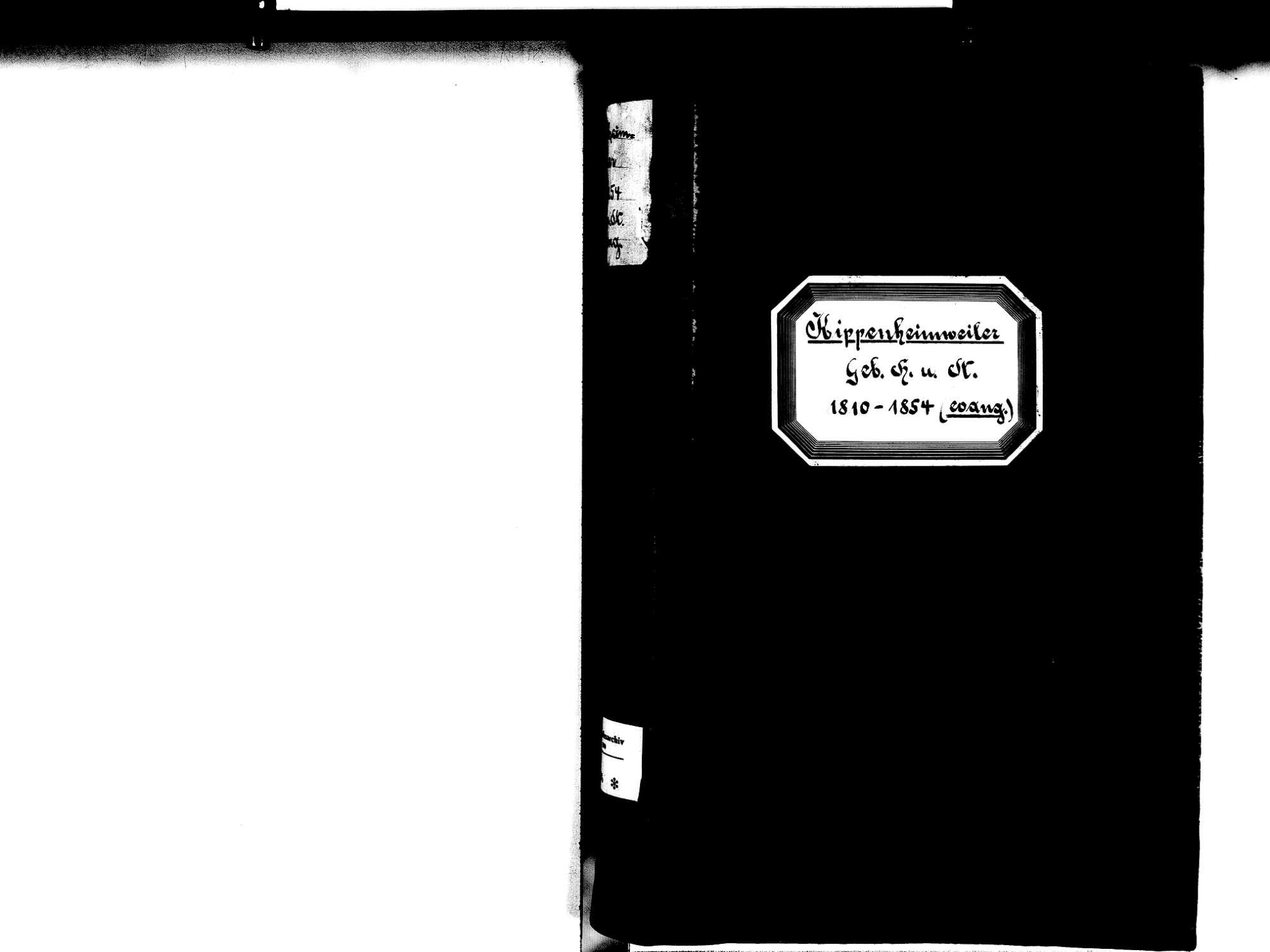 Kippenheimweiler, Lahr im Schwarzwald OG; Evangelische Gemeinde: Standesbuch 1810-1854, Bild 2