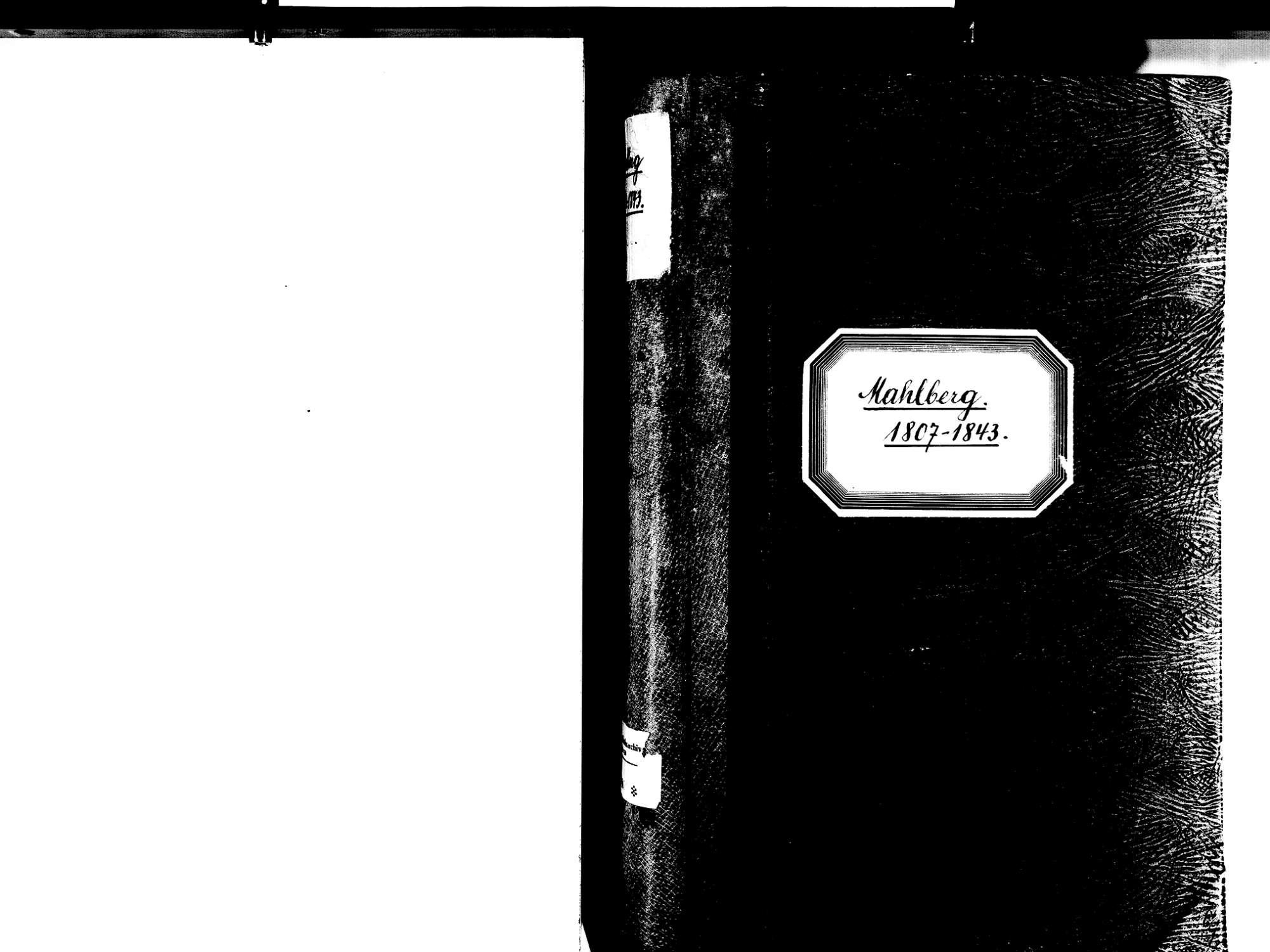 Mahlberg OG; Evangelische Gemeinde: Standesbuch 1807-1843, Bild 2