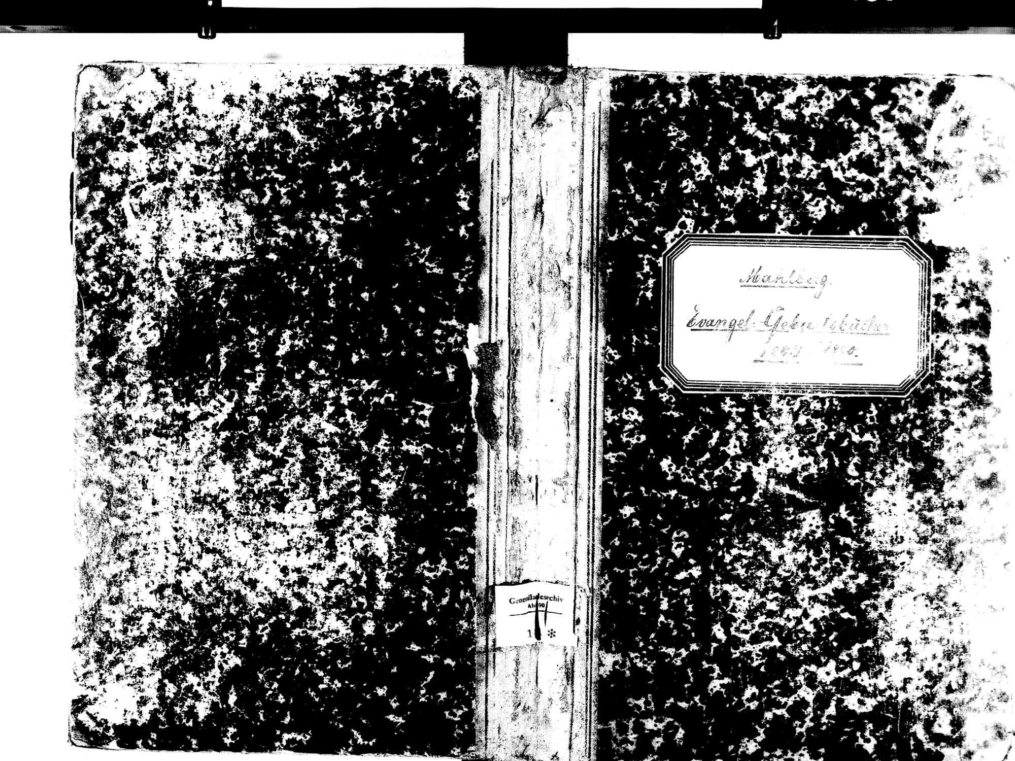 Mahlberg OG; Evangelische Gemeinde: Geburtenbuch 1844-1870, Bild 2