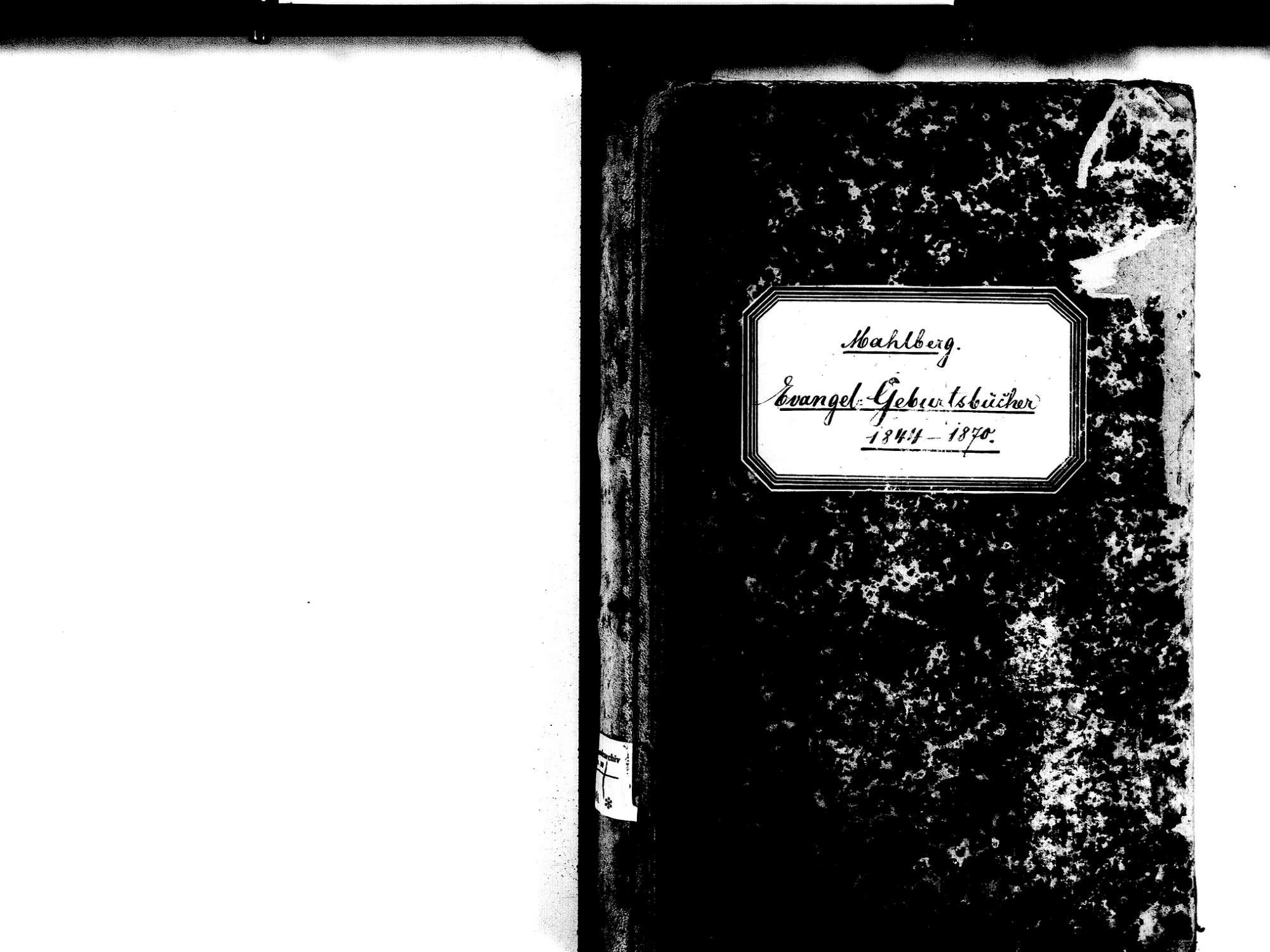 Mahlberg OG; Evangelische Gemeinde: Geburtenbuch 1844-1870, Bild 3