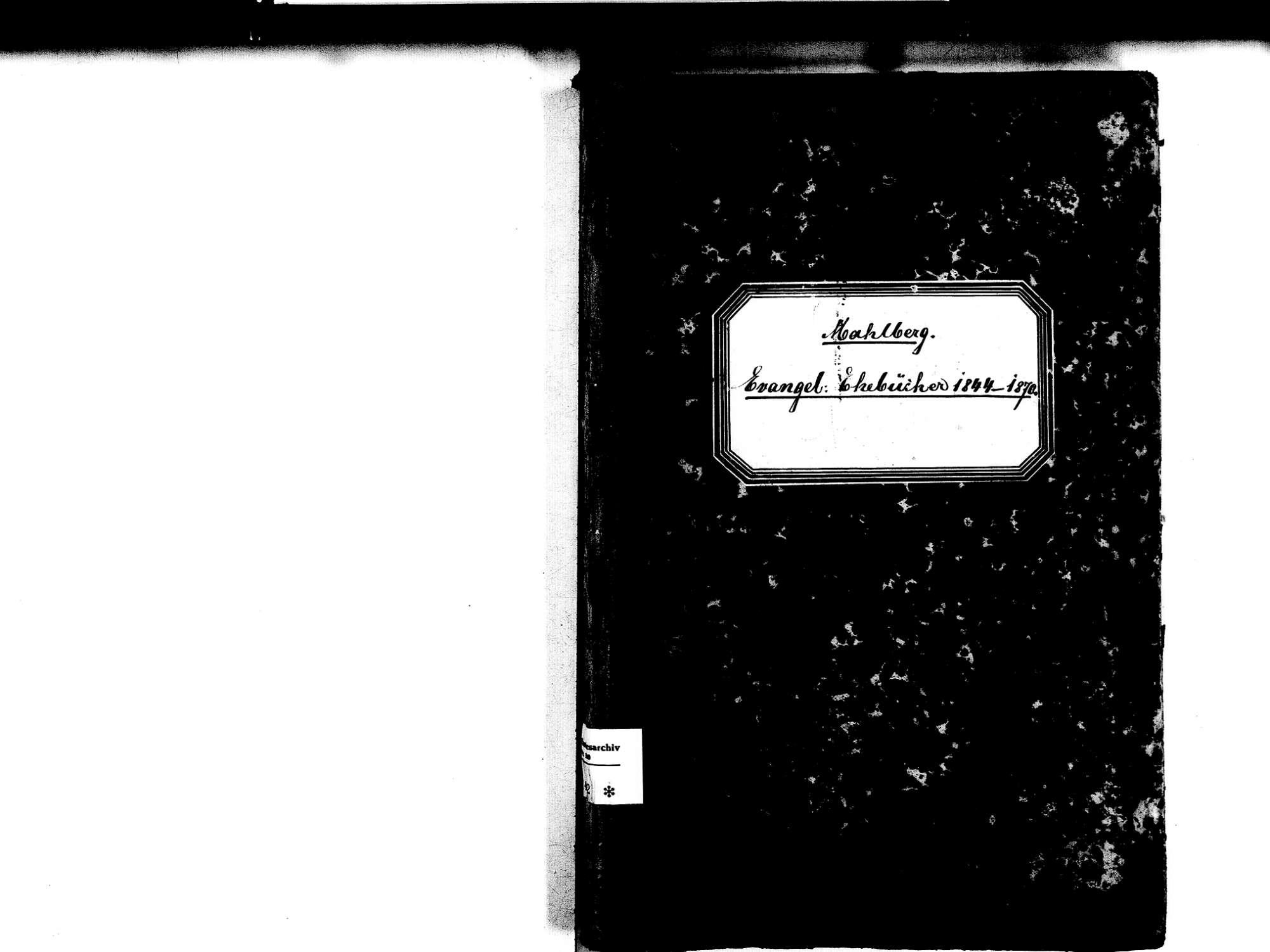 Mahlberg OG; Evangelische Gemeinde: Heiratsbuch 1844-1870, Bild 2