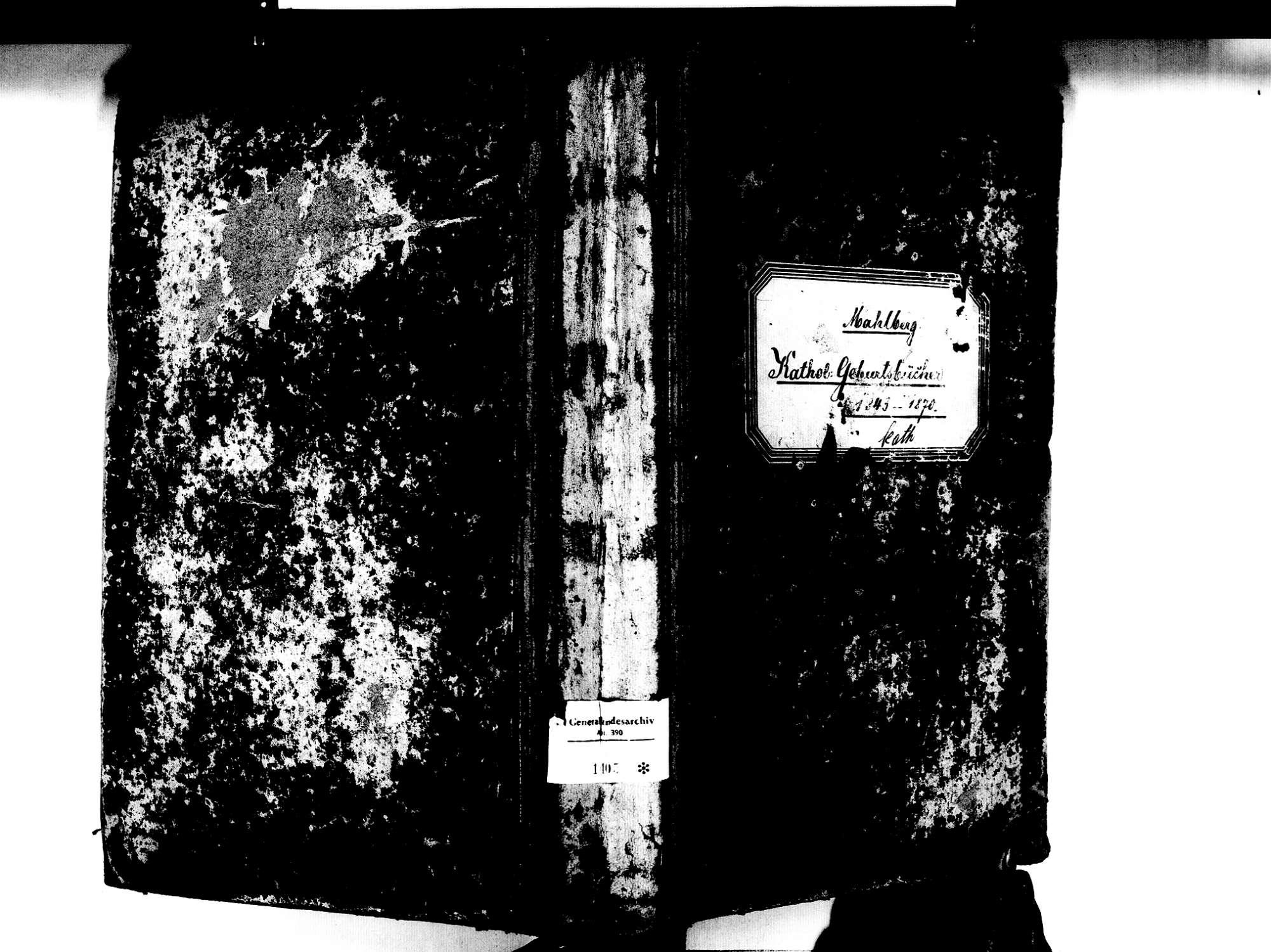 Mahlberg OG; Katholische Gemeinde: Geburtenbuch 1843-1870, Bild 1