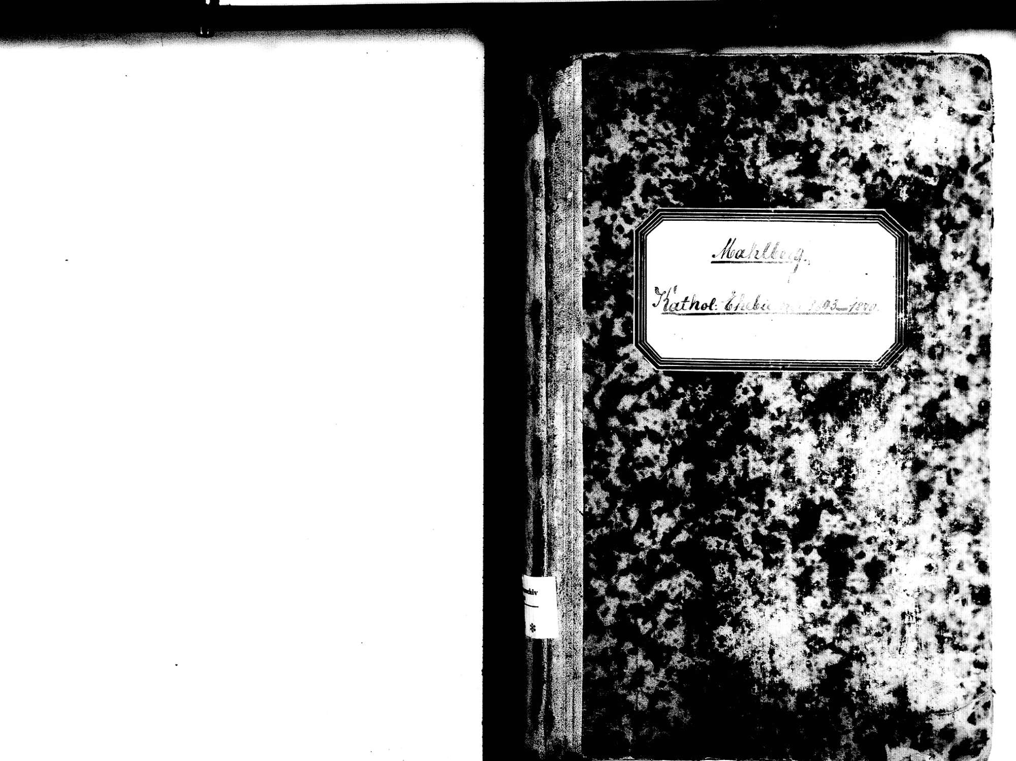 Mahlberg OG; Katholische Gemeinde: Heiratsbuch 1843-1870, Bild 2