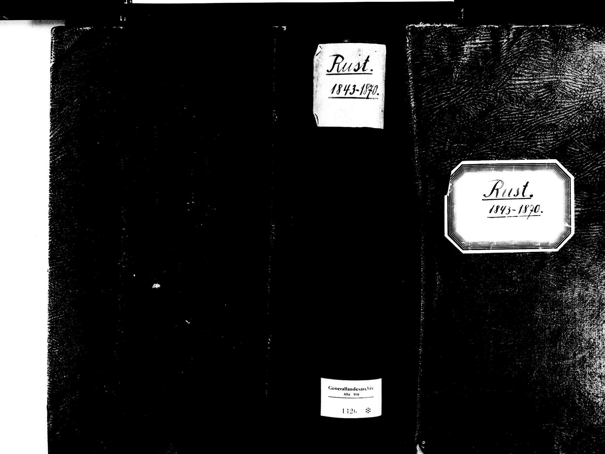 Rust OG; Katholische Gemeinde: Geburtenbuch 1843-1870, Bild 2