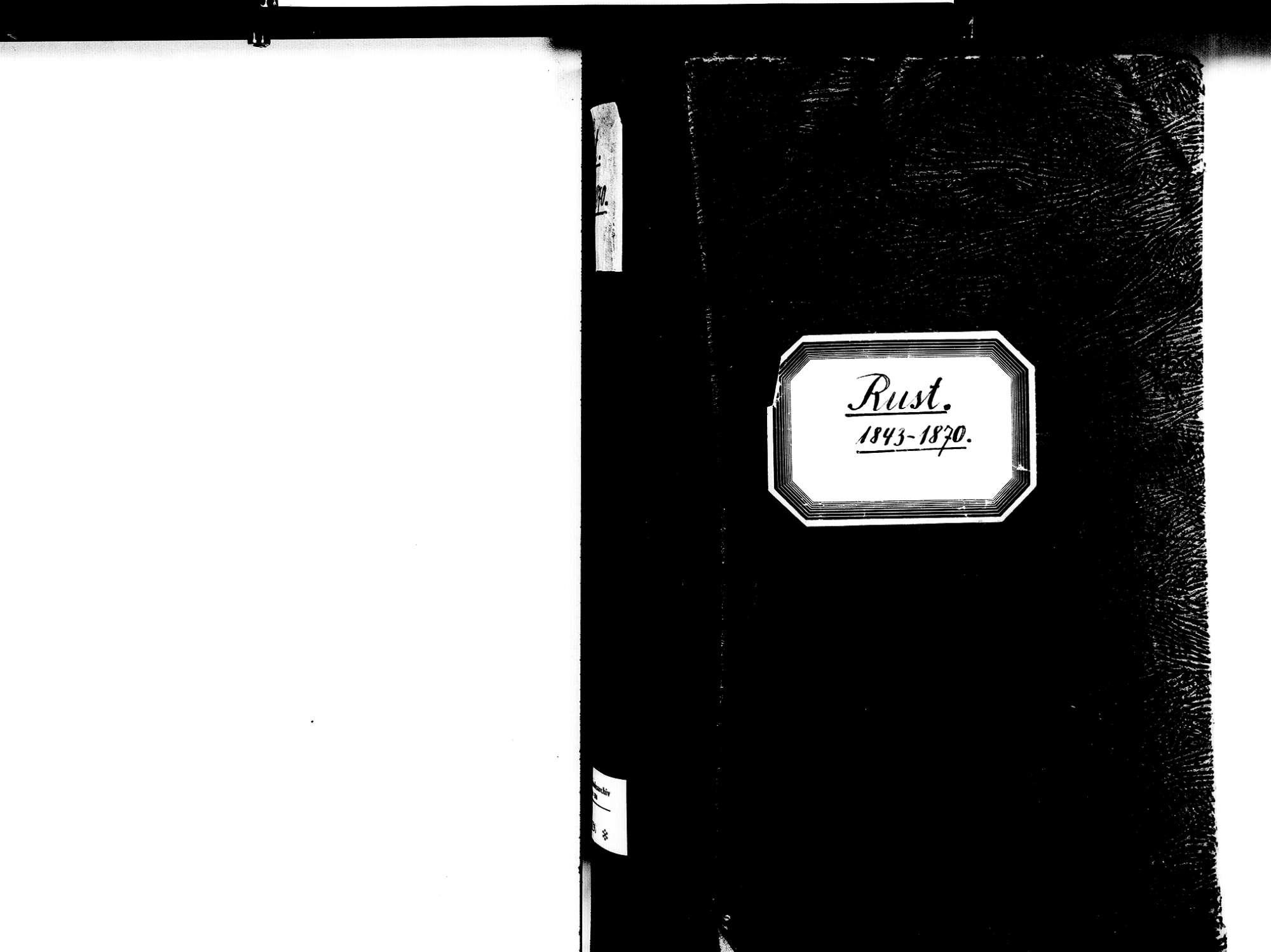 Rust OG; Katholische Gemeinde: Geburtenbuch 1843-1870, Bild 3