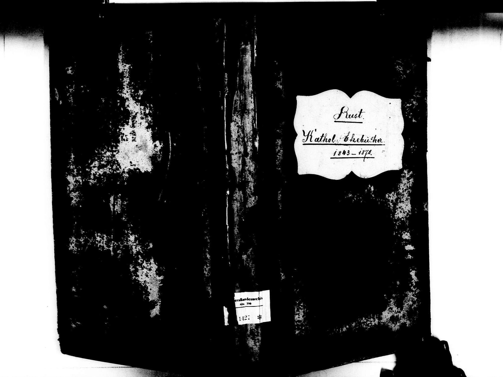 Rust OG; Katholische Gemeinde: Heiratsbuch 1843-1870, Bild 1
