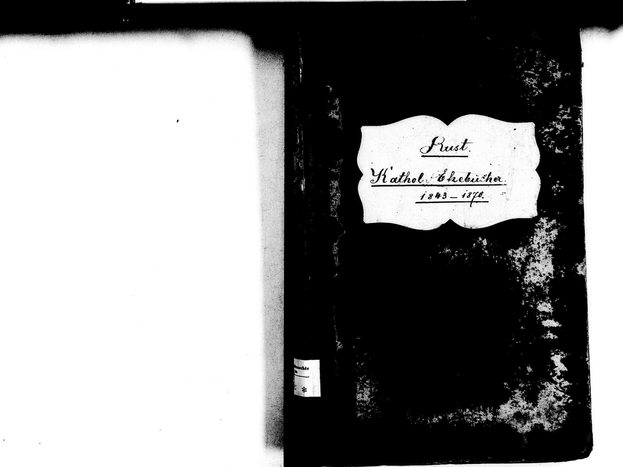Rust OG; Katholische Gemeinde: Heiratsbuch 1843-1870, Bild 2
