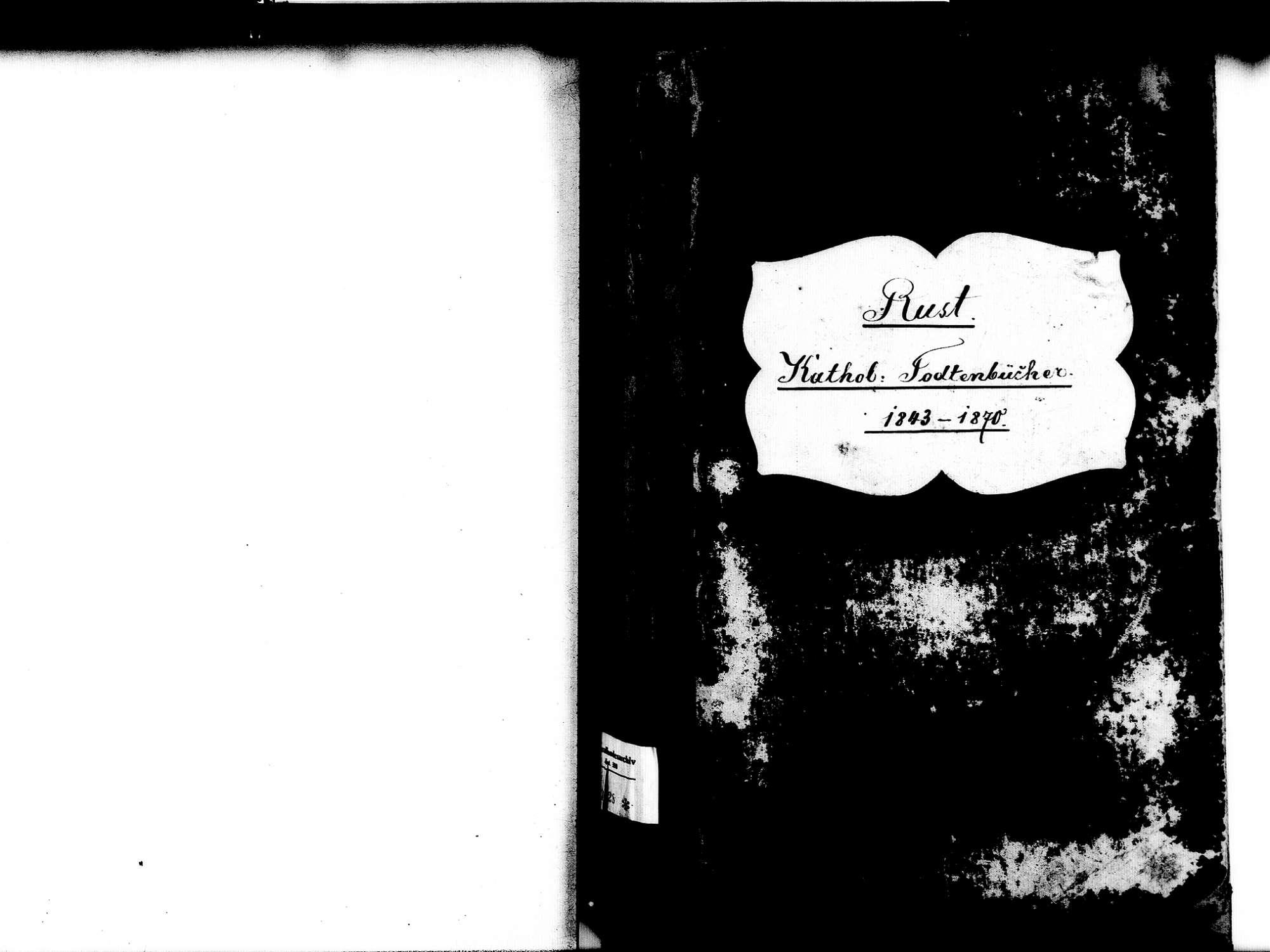 Rust OG; Katholische Gemeinde: Sterbebuch 1843-1870, Bild 2