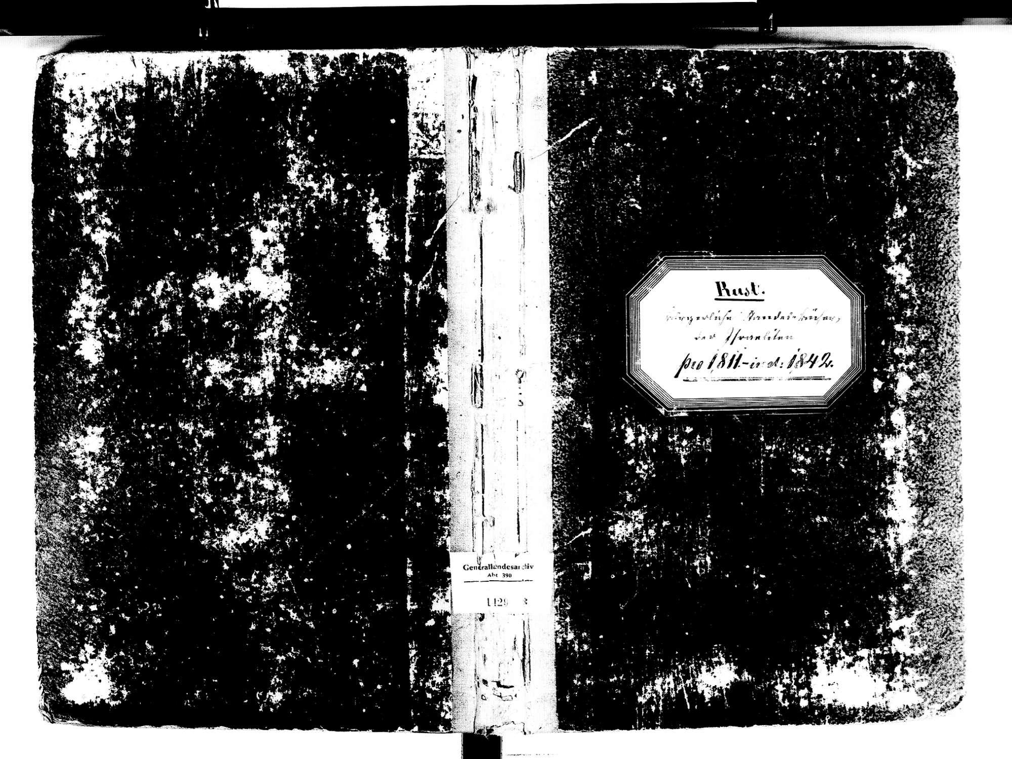 Rust OG; Israelitische Gemeinde: Standesbuch 1811-1842, Bild 1