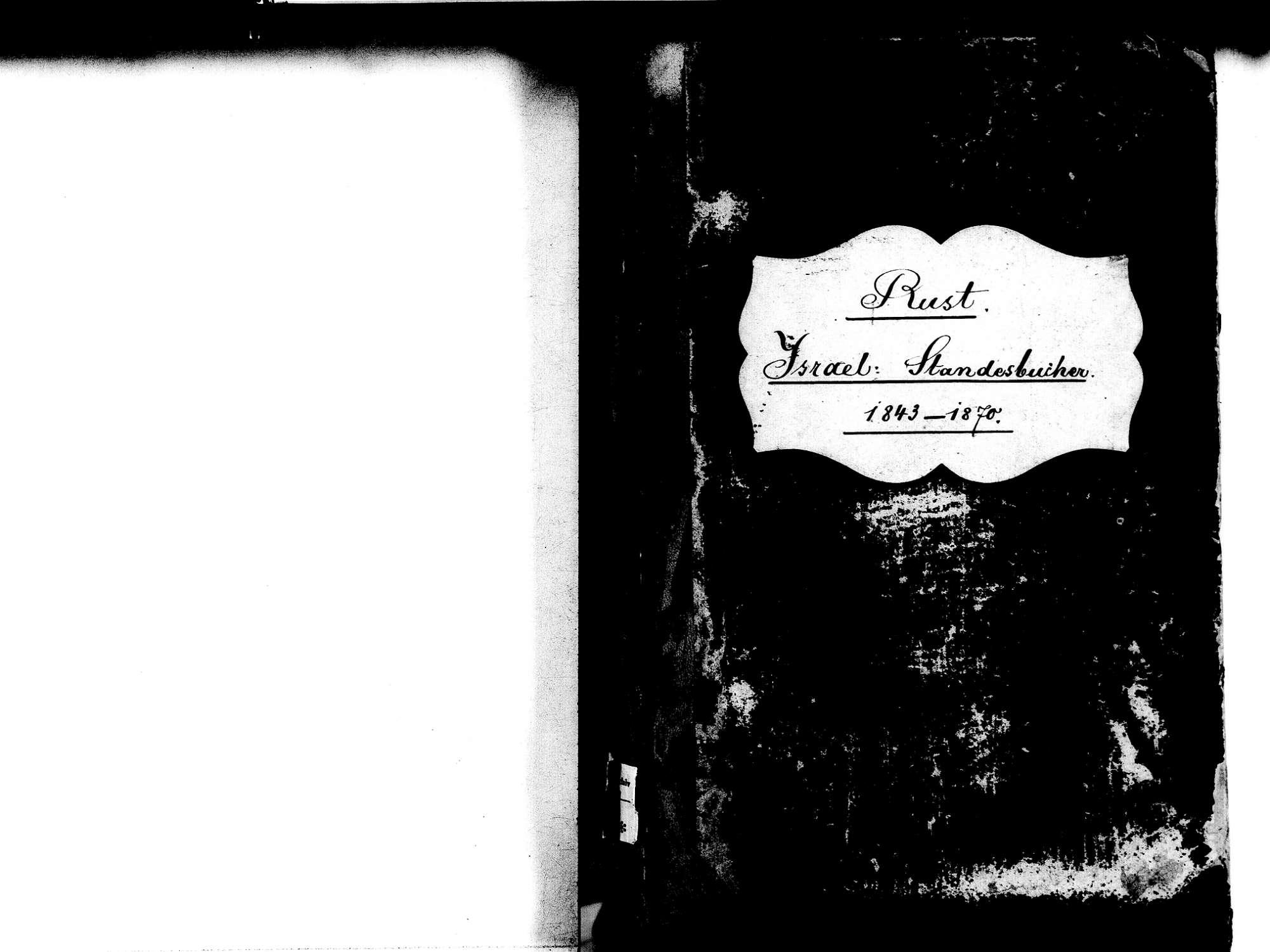 Rust OG; Israelitische Gemeinde: Standesbuch 1843-1870, Bild 2