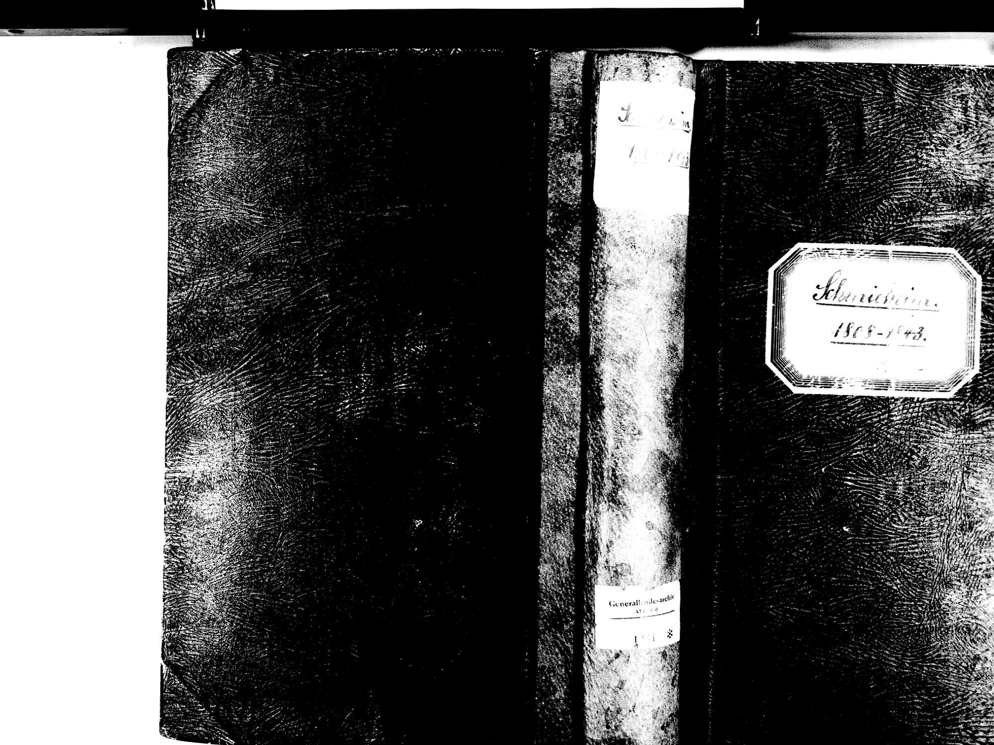 Schmieheim, Kippenheim OG; Evangelische Gemeinde: Standesbuch 1808-1843, Bild 1