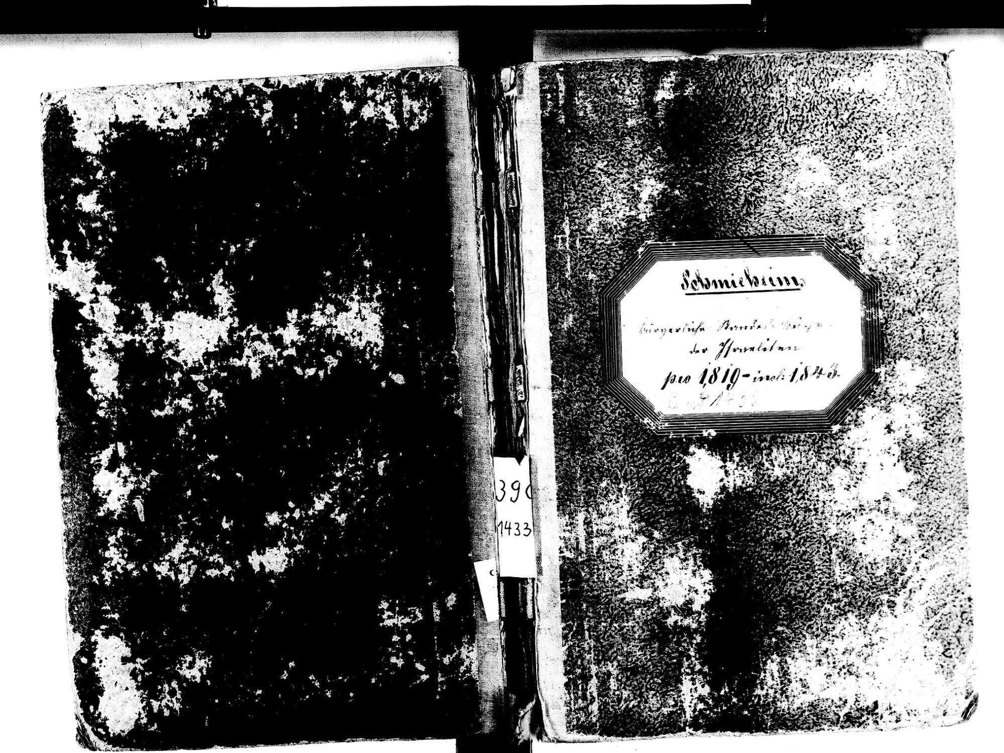Schmieheim, Kippenheim OG; Israelitische Gemeinde: Standesbuch 1819-1843, Bild 1