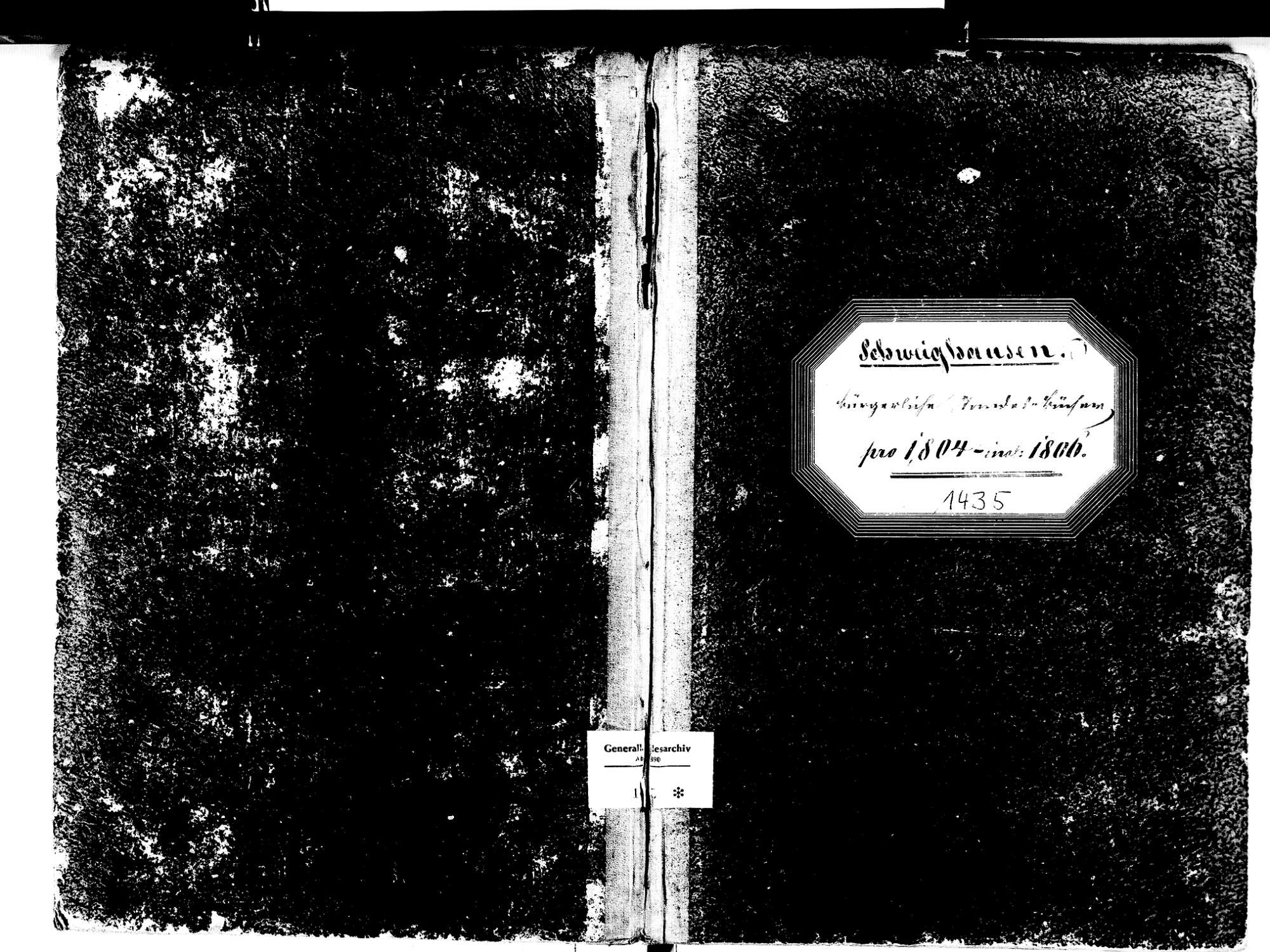 Schweighausen, Schuttertal OG; Katholische Gemeinde: Standesbuch 1804-1806, Bild 1