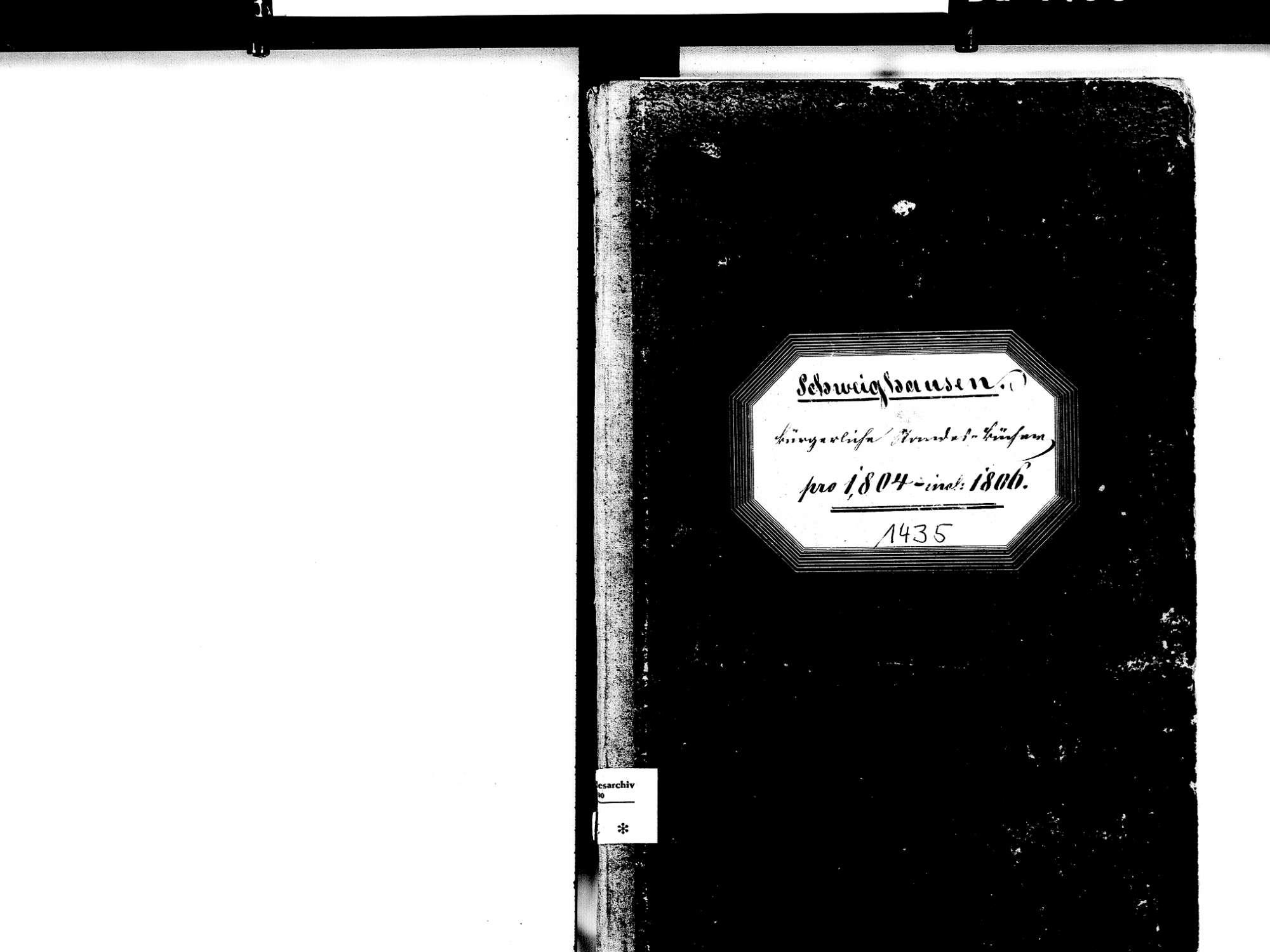 Schweighausen, Schuttertal OG; Katholische Gemeinde: Standesbuch 1804-1806, Bild 2