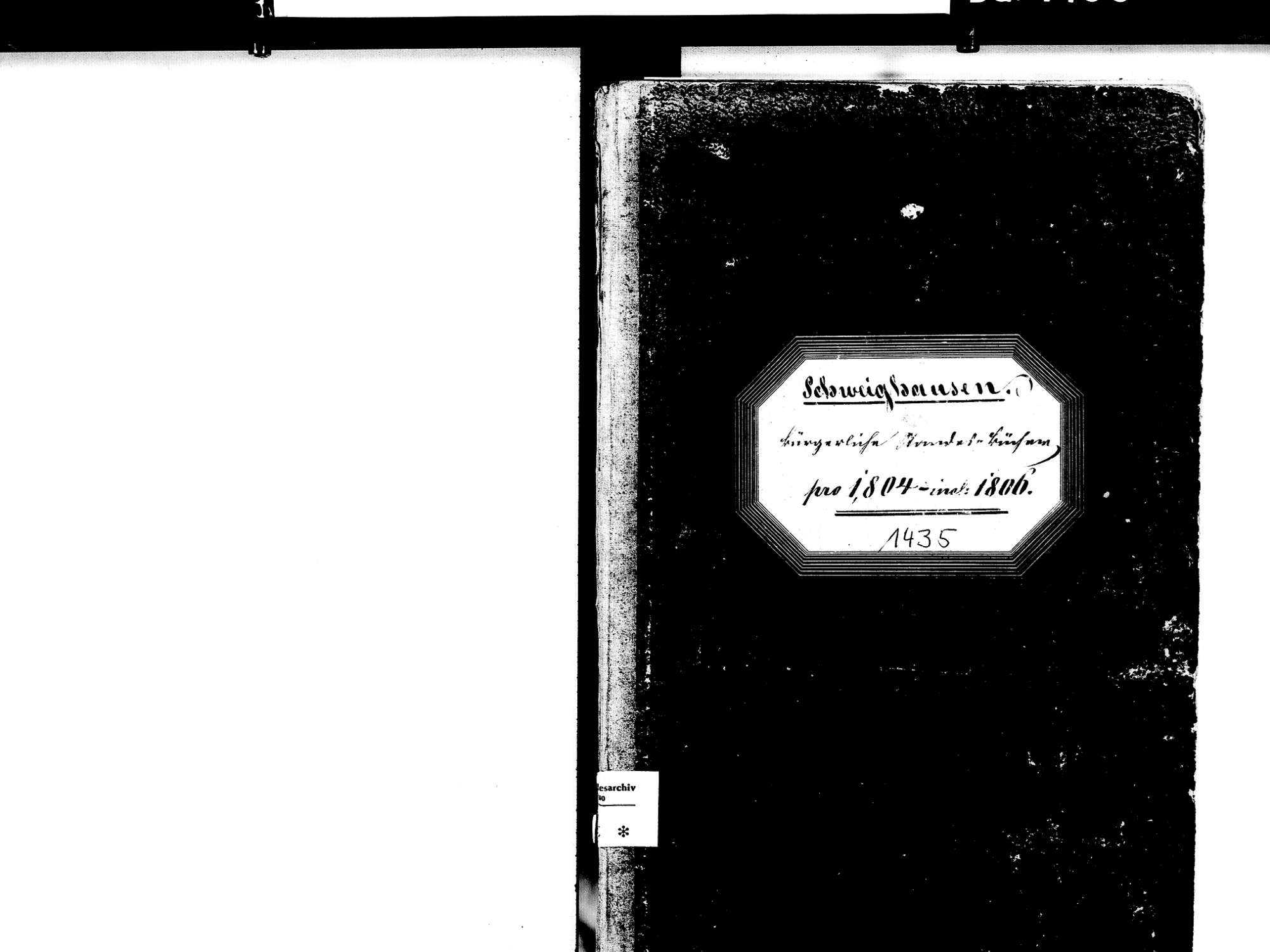 Schweighausen, Schuttertal OG; Katholische Gemeinde: Standesbuch 1804-1806, Bild 3