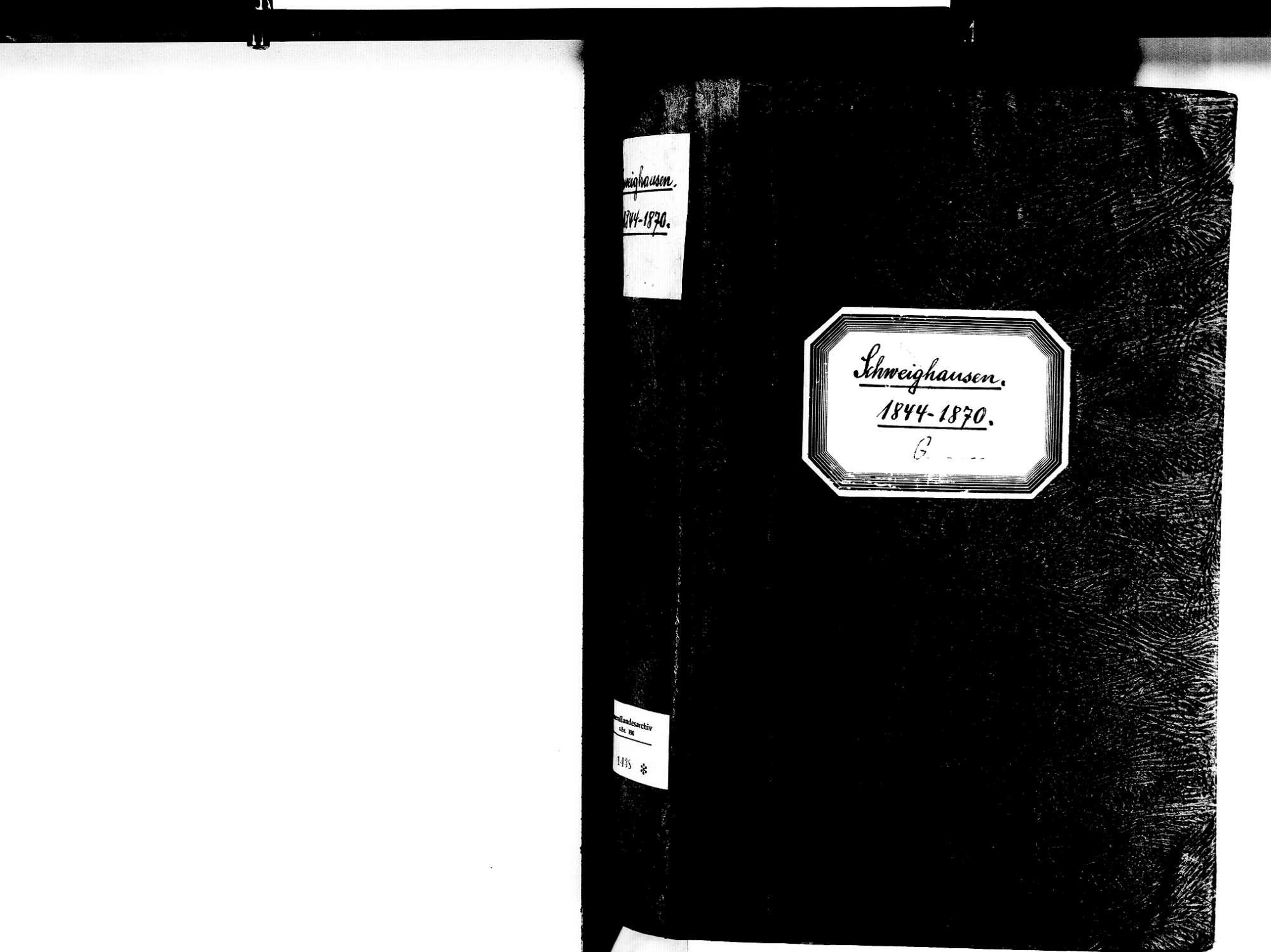 Schweighausen, Schuttertal OG; Katholische Gemeinde: Geburtenbuch 1844-1870, Bild 2