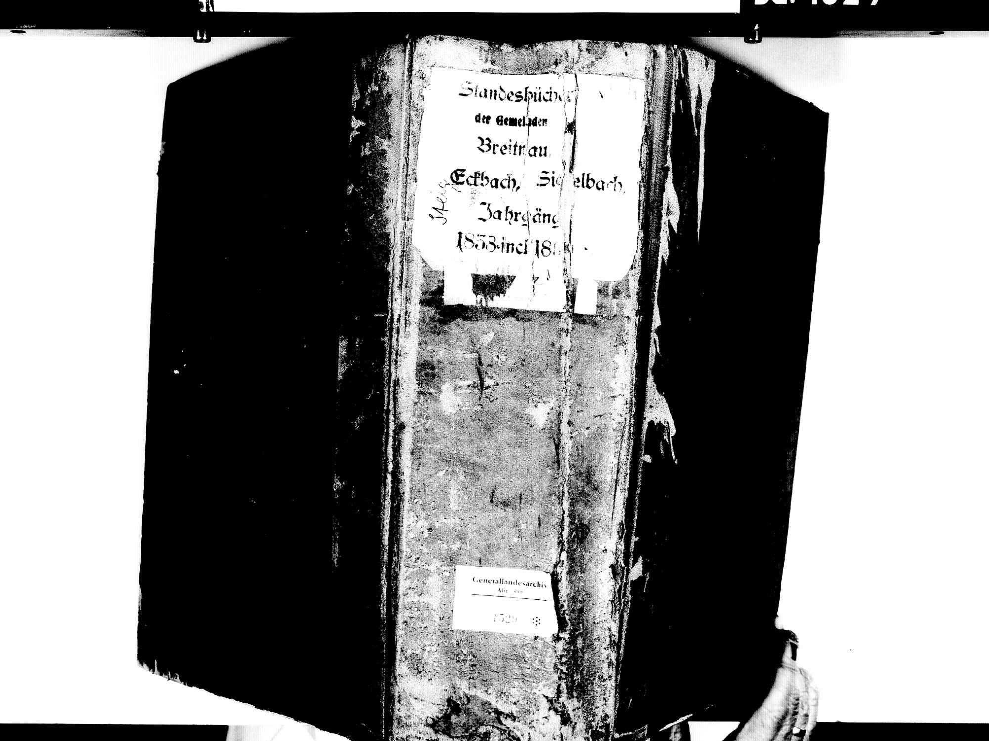 Breitnau FR; Katholische Gemeinde: Standesbuch 1838-1869, Bild 2