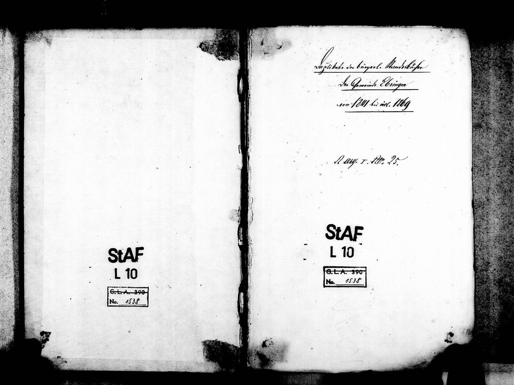 Ebringen FR; Katholische Gemeinde: Standesbuch 1841-1869, [1870 nur Januar], Bild 3