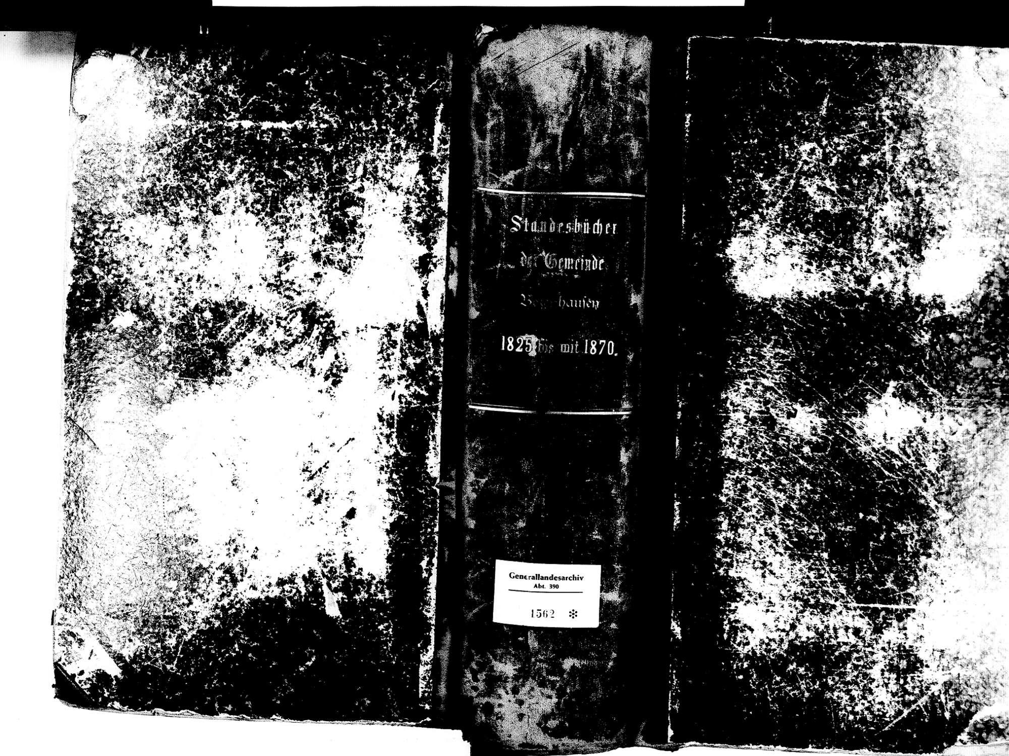 Betzenhausen, Freiburg FR; Katholische Gemeinde: Standesbuch 1825-1870 Enthält auch: Einträge zu Katholische Gemeinde: St. Martin, Bild 2
