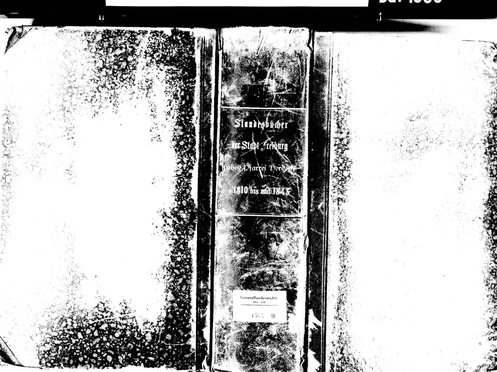 Herdern, Freiburg FR; Katholische Gemeinde: Standesbuch 1810-1843, Bild 1