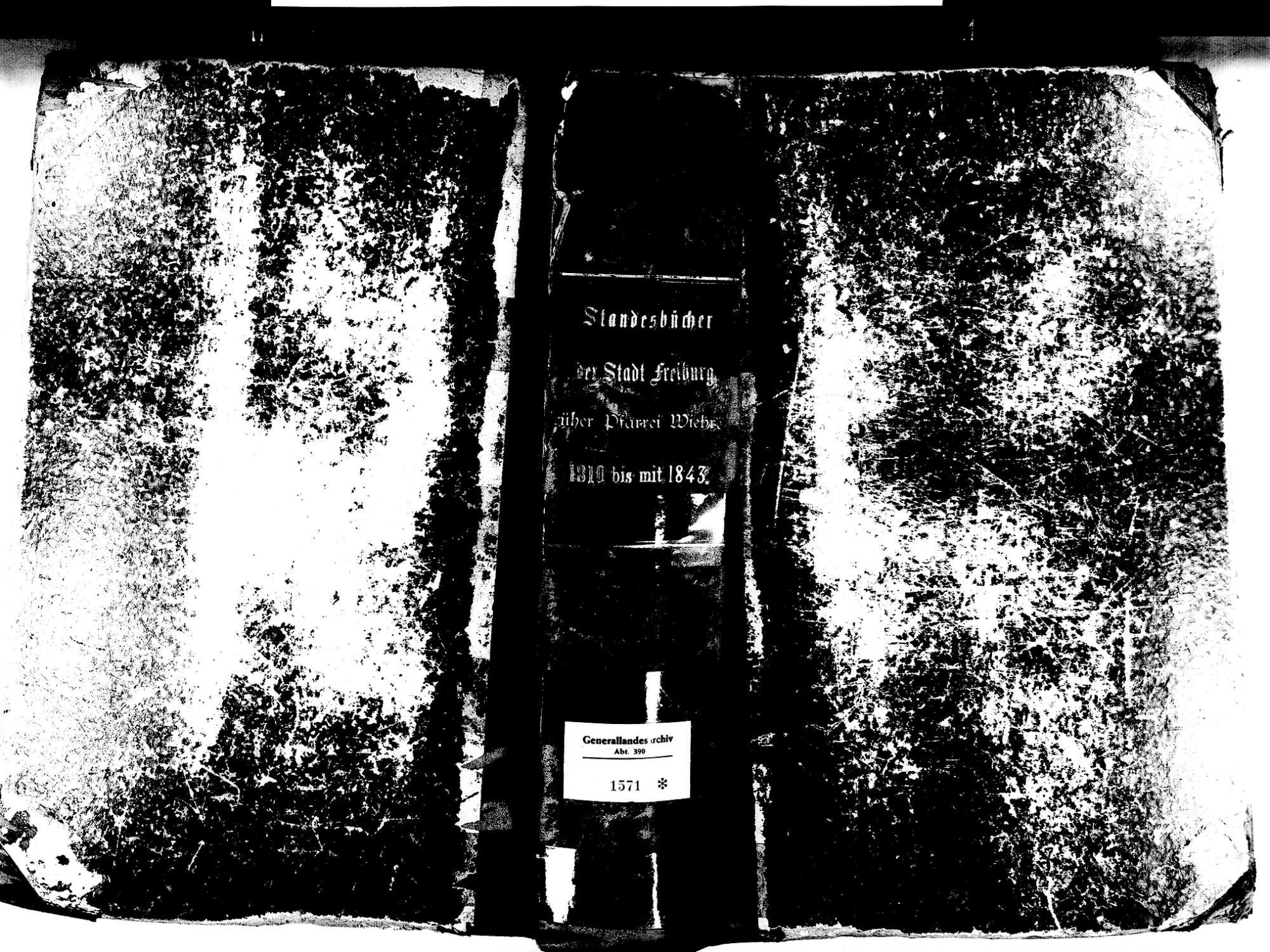 Wiehre, Freiburg FR; Katholische Gemeinde: Standesbuch 1810-1843, Bild 1