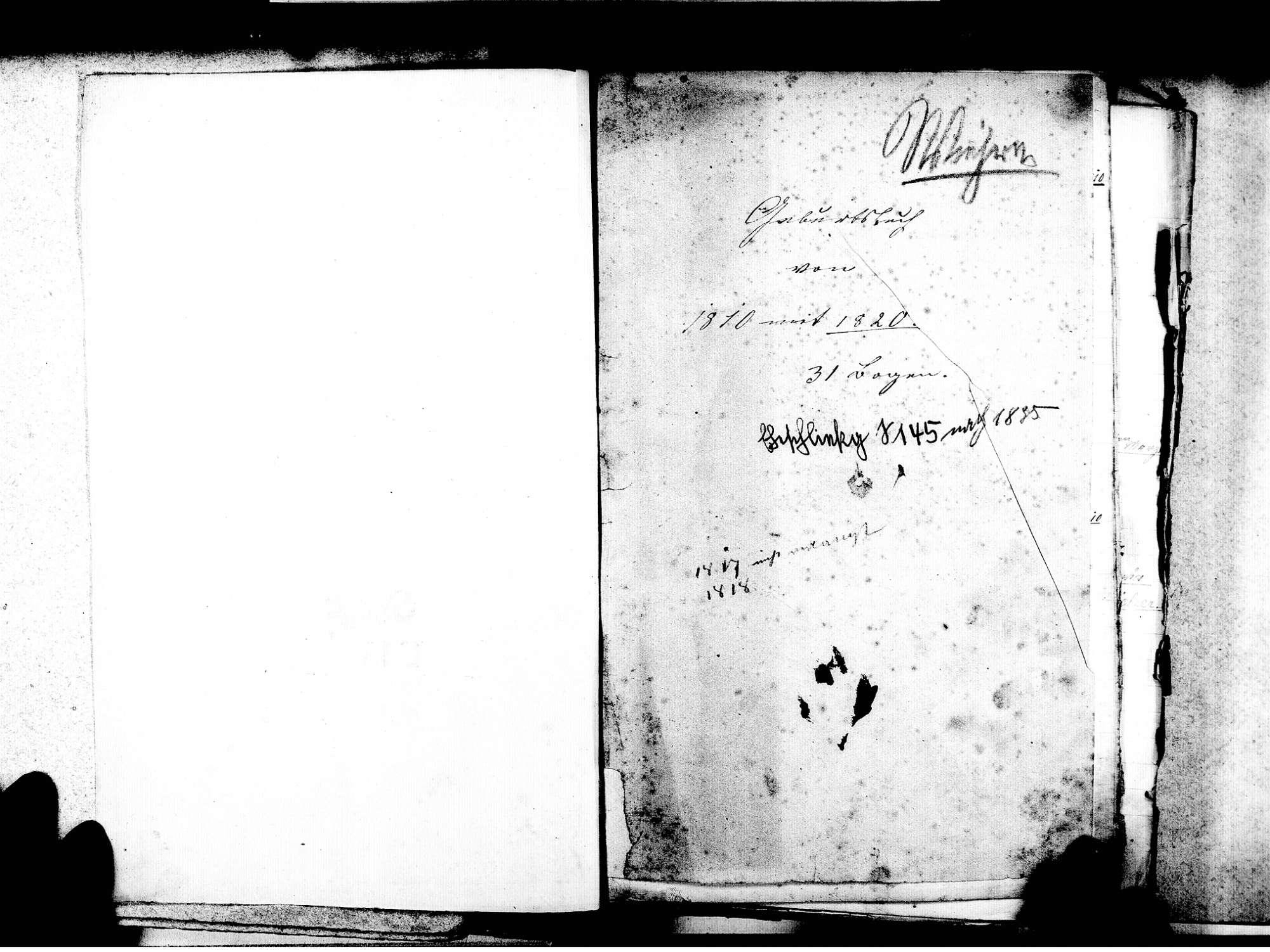 Wiehre, Freiburg FR; Katholische Gemeinde: Standesbuch 1810-1843, Bild 3