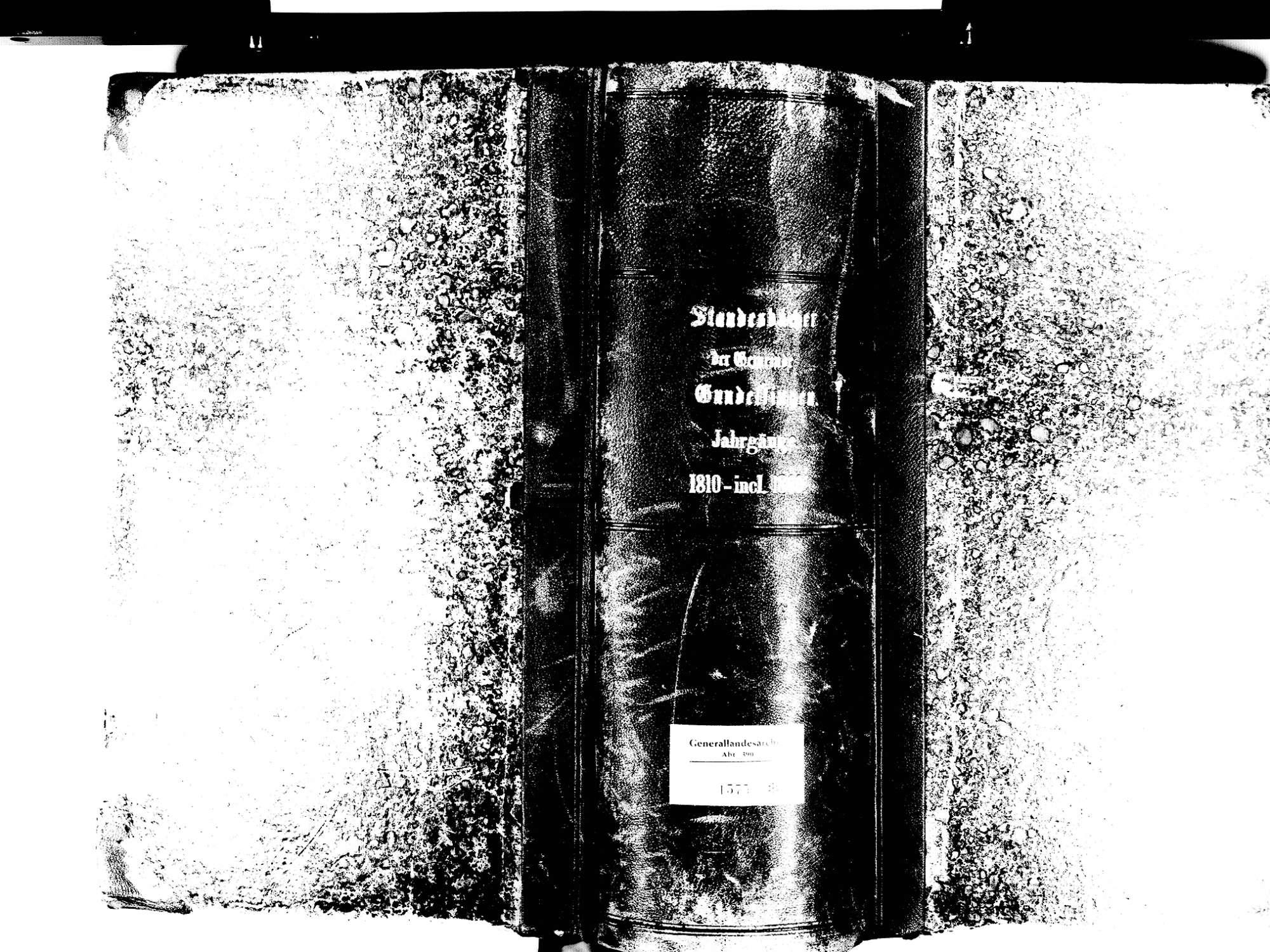 Gundelfingen FR; Evangelische Gemeinde: Standesbuch 1810-1869, Bild 1