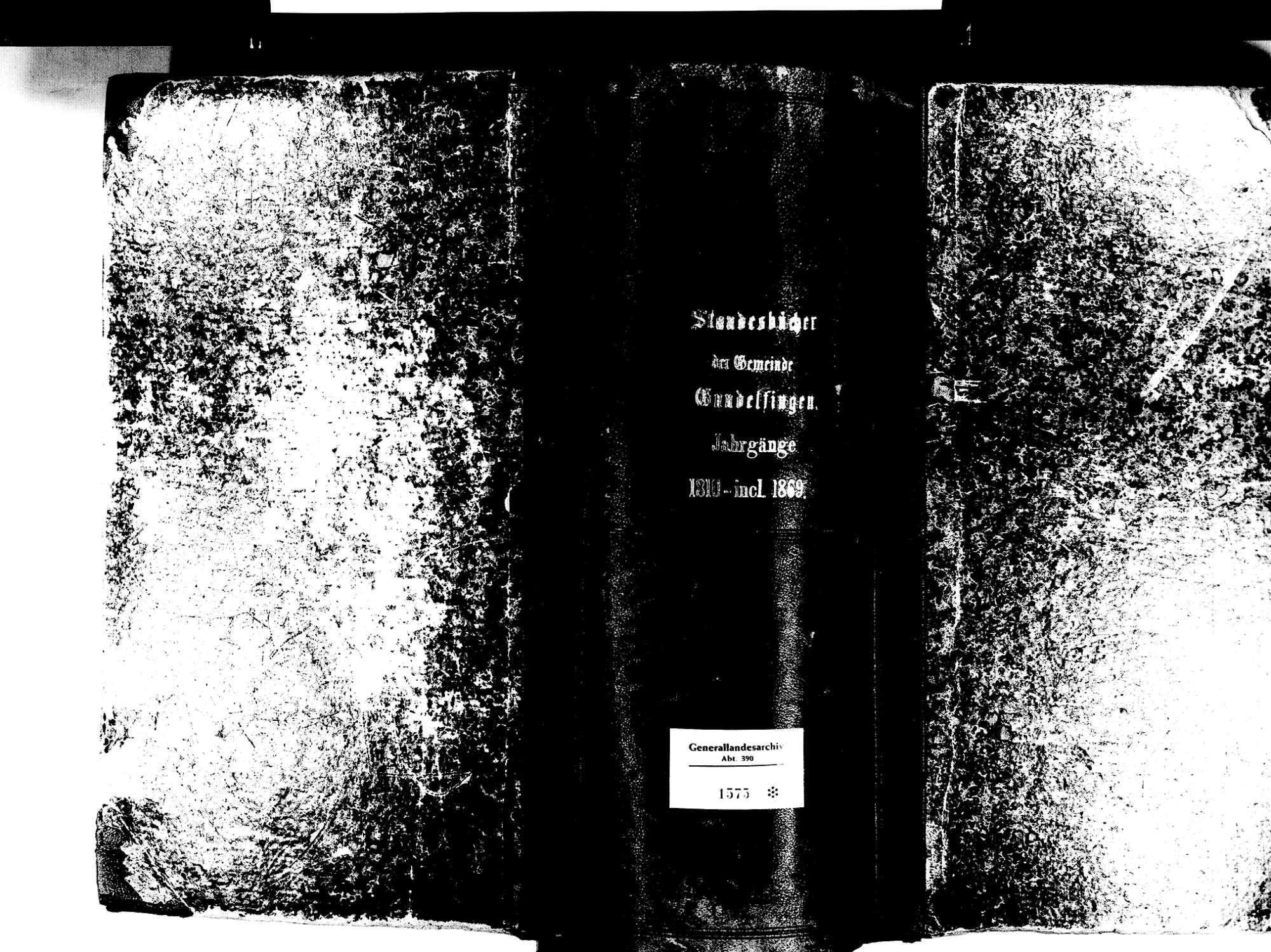 Gundelfingen FR; Evangelische Gemeinde: Standesbuch 1810-1869, Bild 2