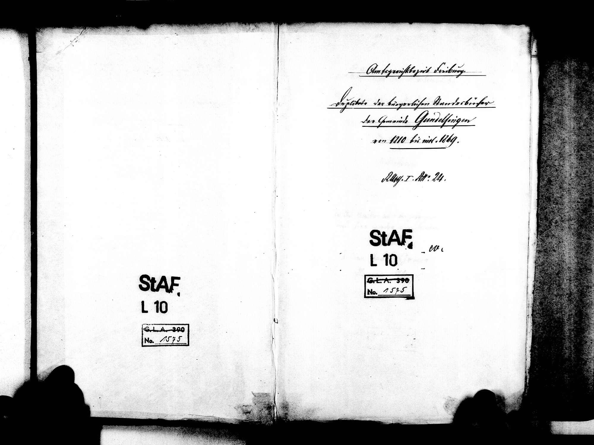 Gundelfingen FR; Evangelische Gemeinde: Standesbuch 1810-1869, Bild 3