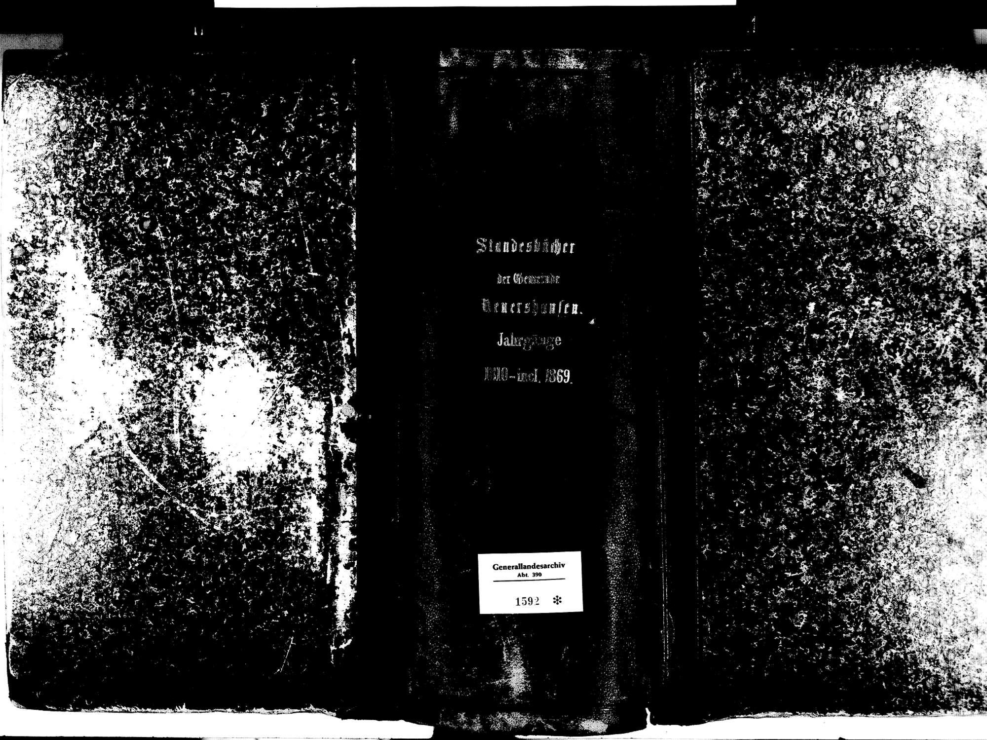 Neuershausen, March FR; Katholische Gemeinde: Standesbuch 1810-1870, Bild 2
