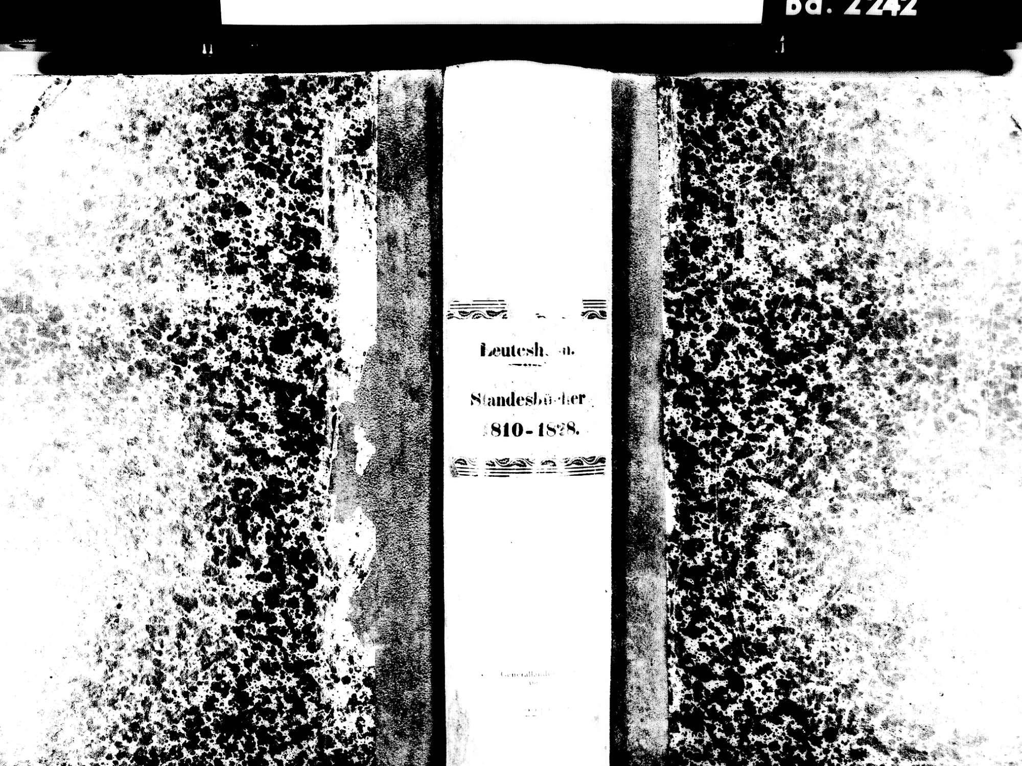 Leutesheim, Kehl OG; Evangelische Gemeinde: Standesbuch 1810-1828, Bild 1