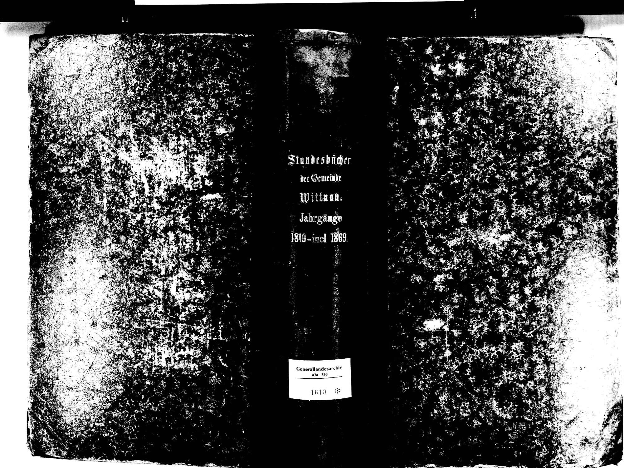 Wittnau FR; Katholische Gemeinde: Standesbuch 1810-1870, Bild 2