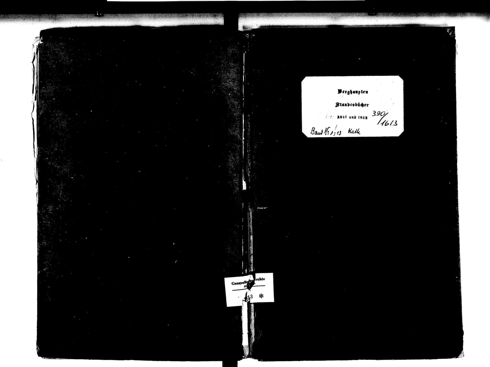 Berghaupten OG; Katholische Gemeinde: Standesbuch 1810-1812 Enthält: Einzelne Evangelische Einträge, Bild 1