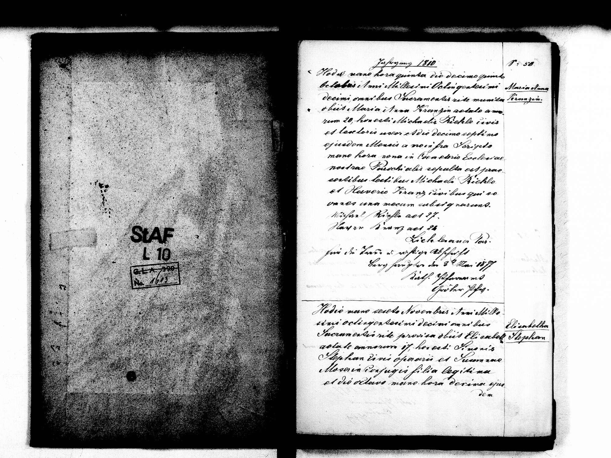 Berghaupten OG; Katholische Gemeinde: Standesbuch 1810-1812 Enthält: Einzelne Evangelische Einträge, Bild 3
