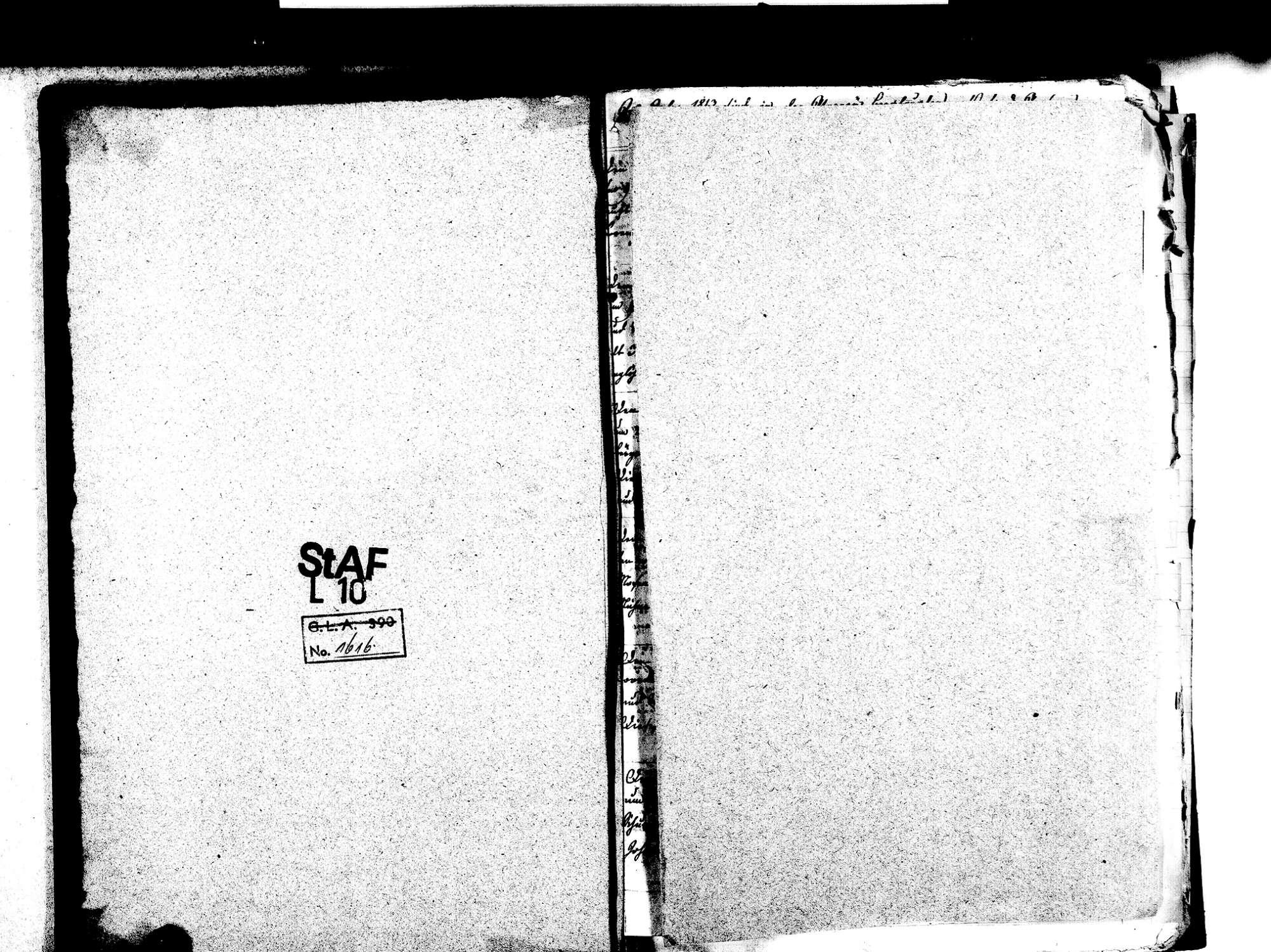 Berghaupten OG; Katholische Gemeinde: Sterbebuch 1813-1839 Enthält: Einzelne Evangelische Einträge, Bild 3
